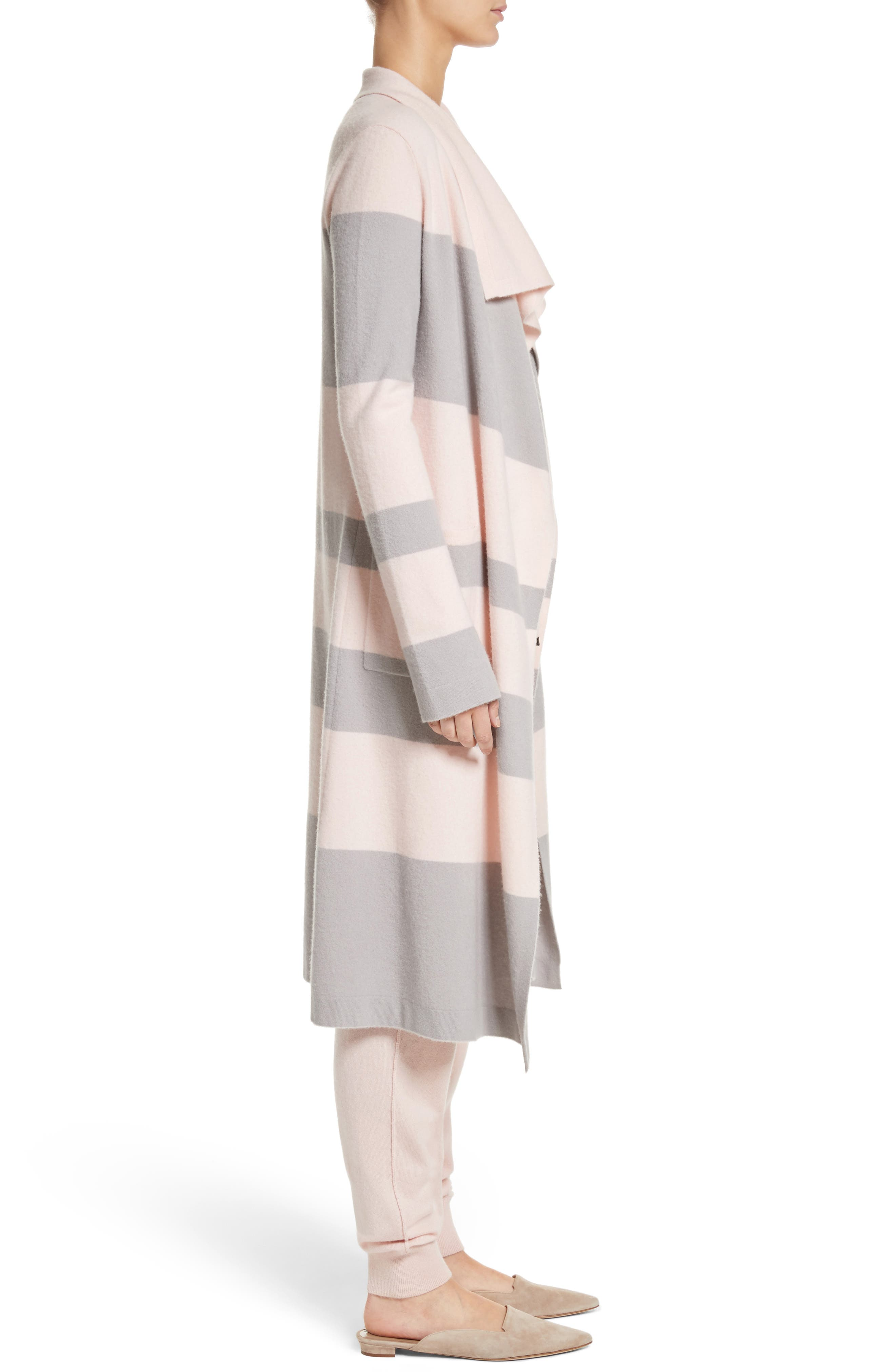 Stripe Wool & Cashmere Sweater,                             Alternate thumbnail 3, color,                             680