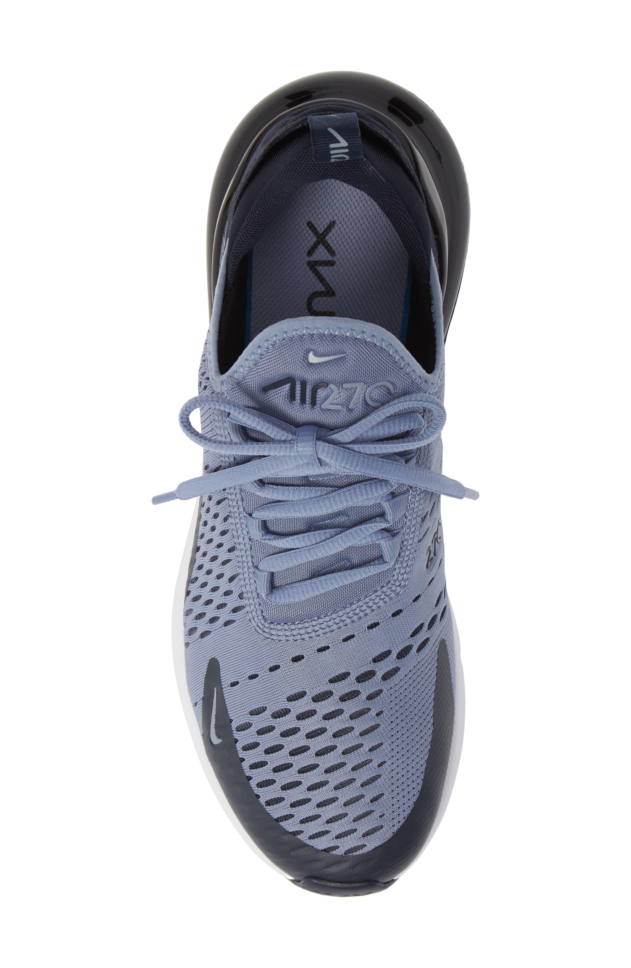 Air Max 270 Sneaker,                             Alternate thumbnail 5, color,                             ASHEN SLATE/ BLACK
