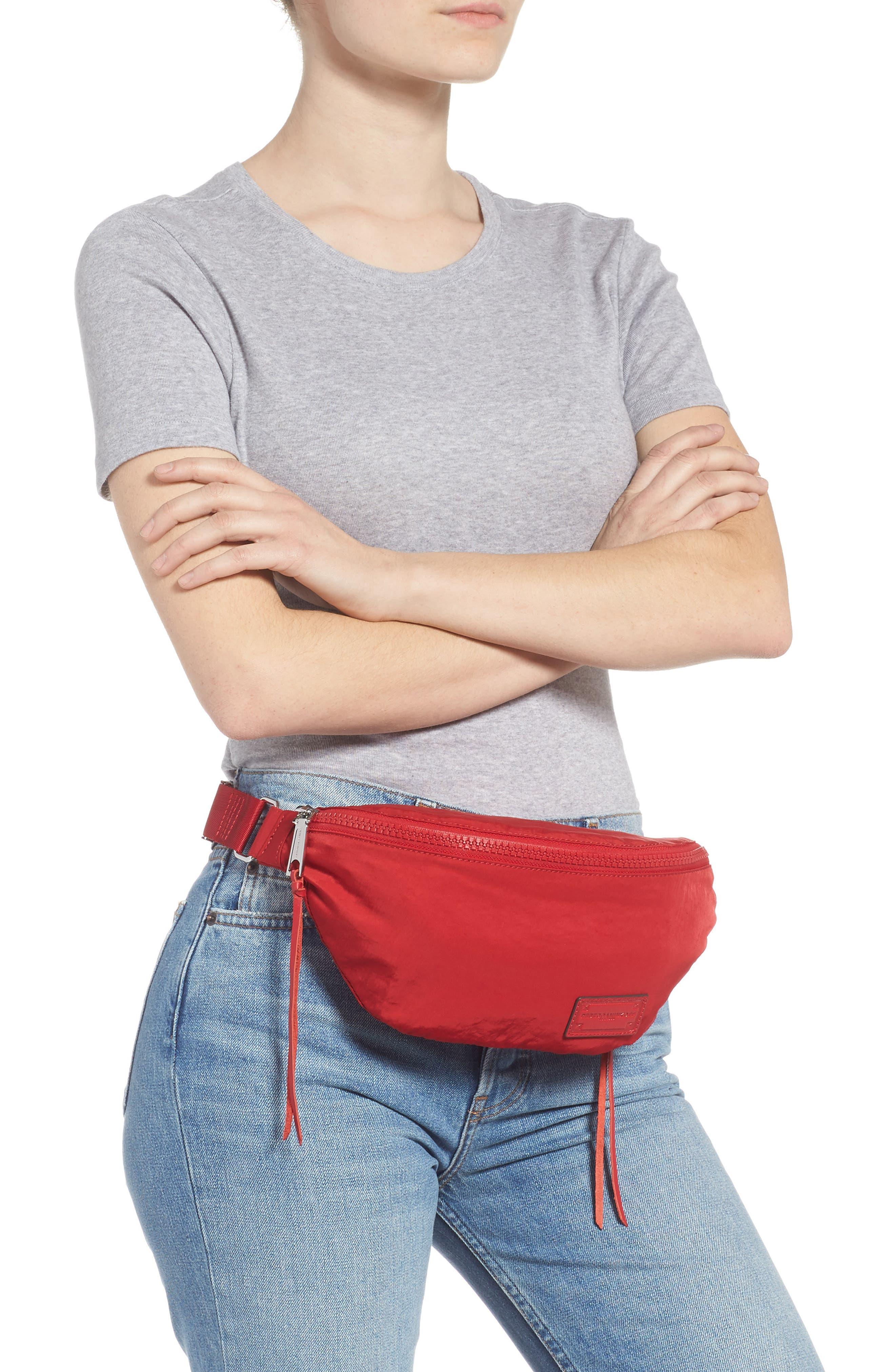 Nylon Belt Bag,                             Alternate thumbnail 2, color,                             SCARLET