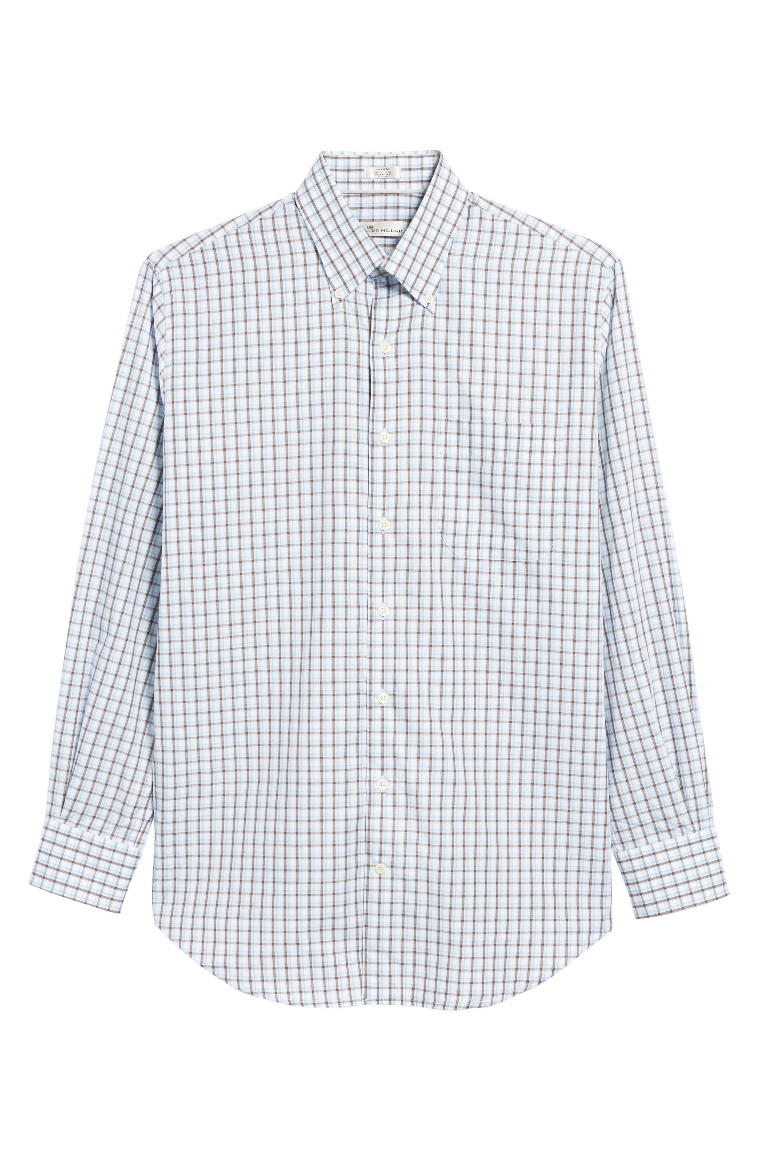 Regular Fit Crisp Pane Sport Shirt,                             Alternate thumbnail 6, color,                             227