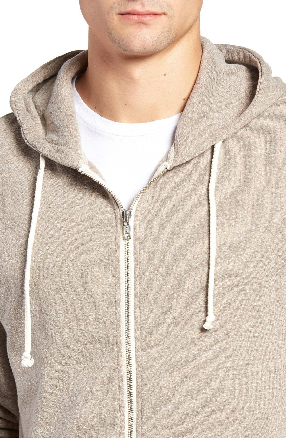 Threads for Thought Trim Fit Heathered Hoodie,                             Alternate thumbnail 45, color,