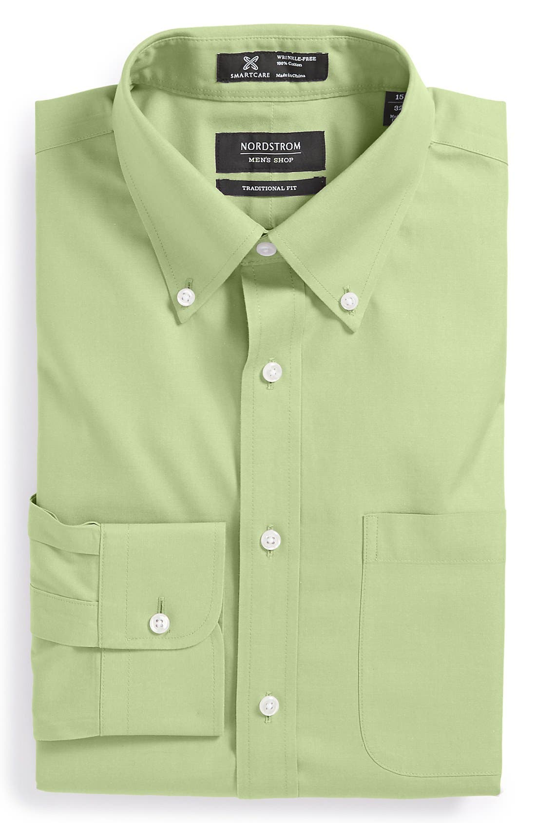 Smartcare<sup>™</sup> Traditional Fit Pinpoint Dress Shirt,                             Main thumbnail 11, color,