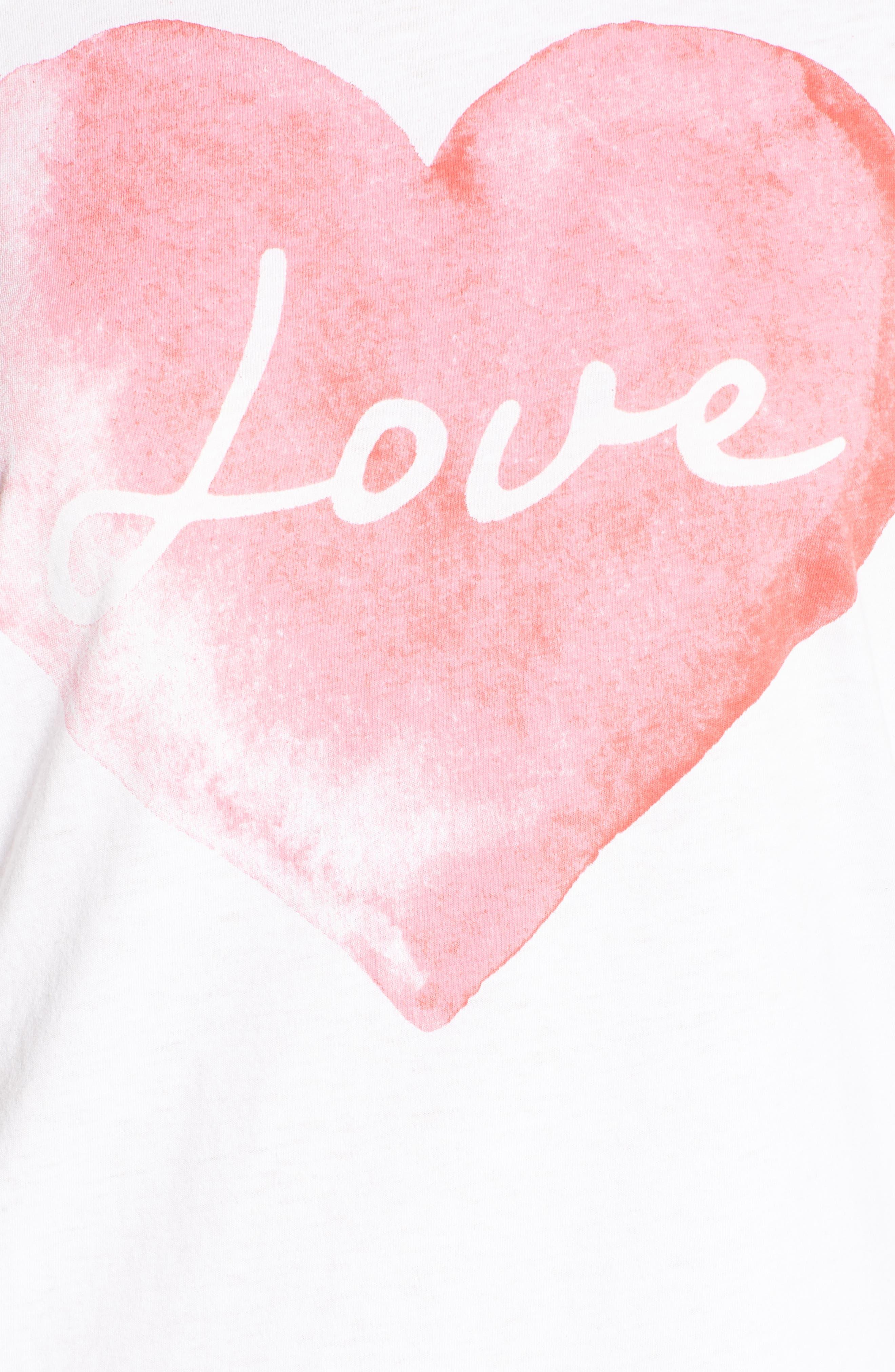 Lover Heart Tee,                             Alternate thumbnail 5, color,                             100