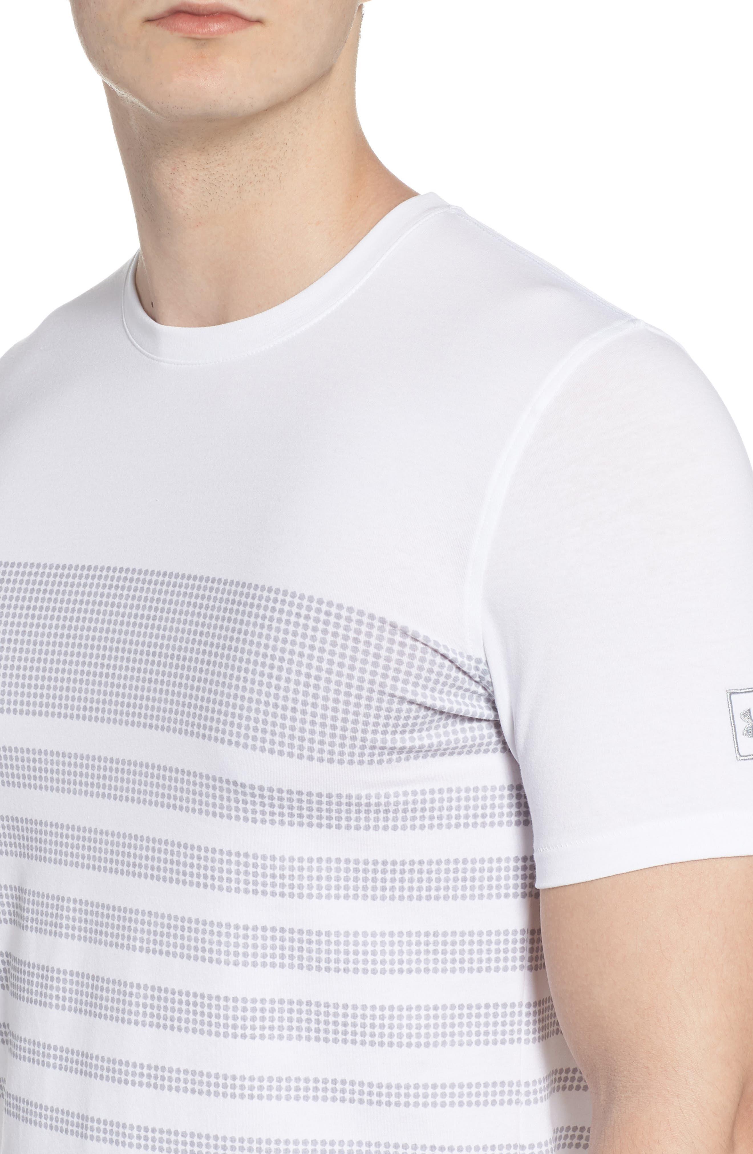 Sportstyle Crewneck T-Shirt,                             Alternate thumbnail 4, color,                             WHITE / OVERCAST GREH