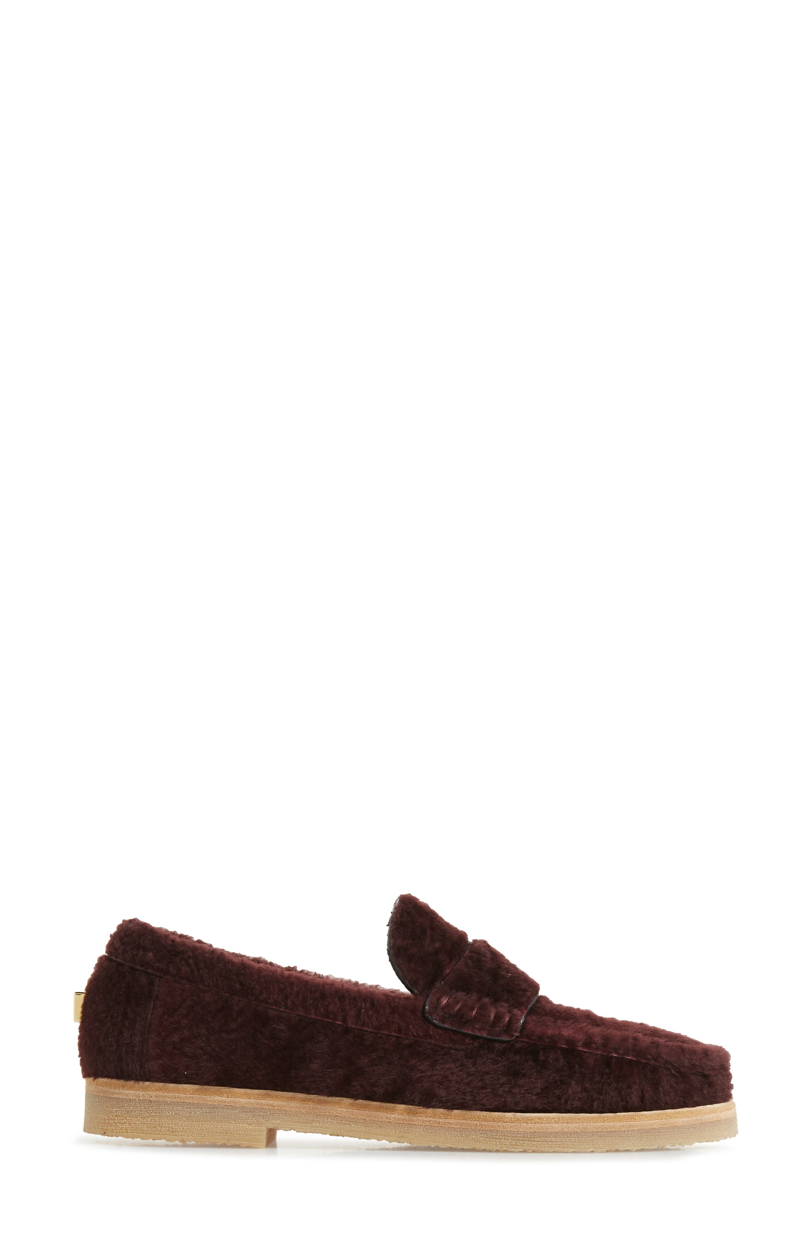 Bromley Genuine Shearling Loafer,                             Alternate thumbnail 9, color,