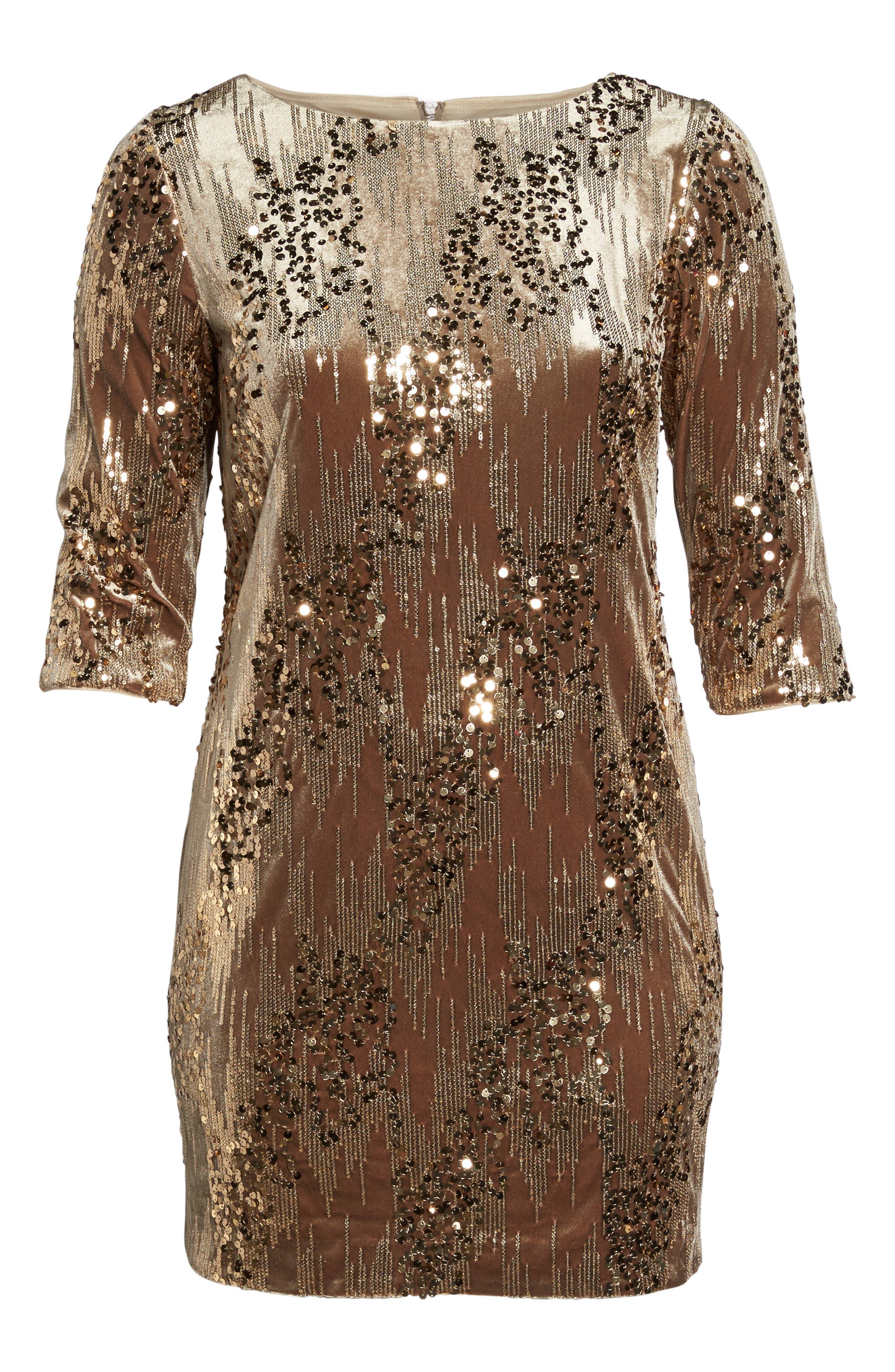 Sequin Sheath Dress,                             Alternate thumbnail 6, color,                             710