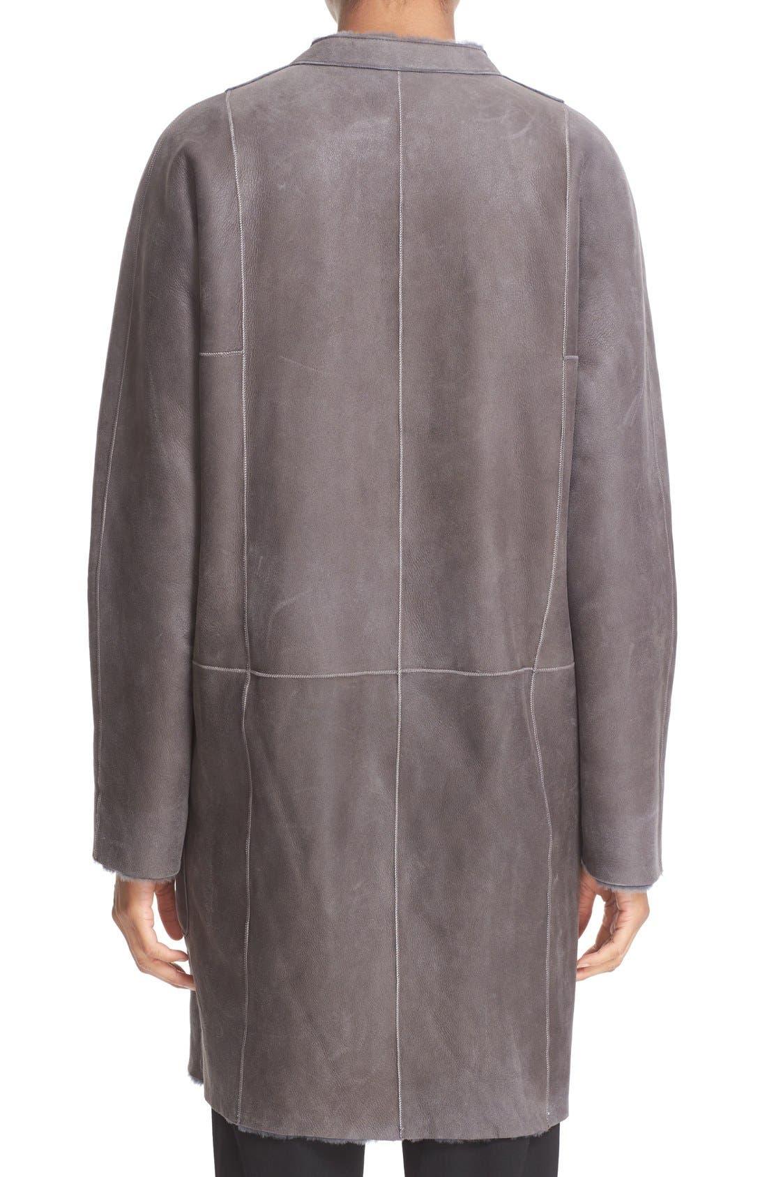 Reversible Genuine Shearling Car Coat,                             Alternate thumbnail 3, color,                             082