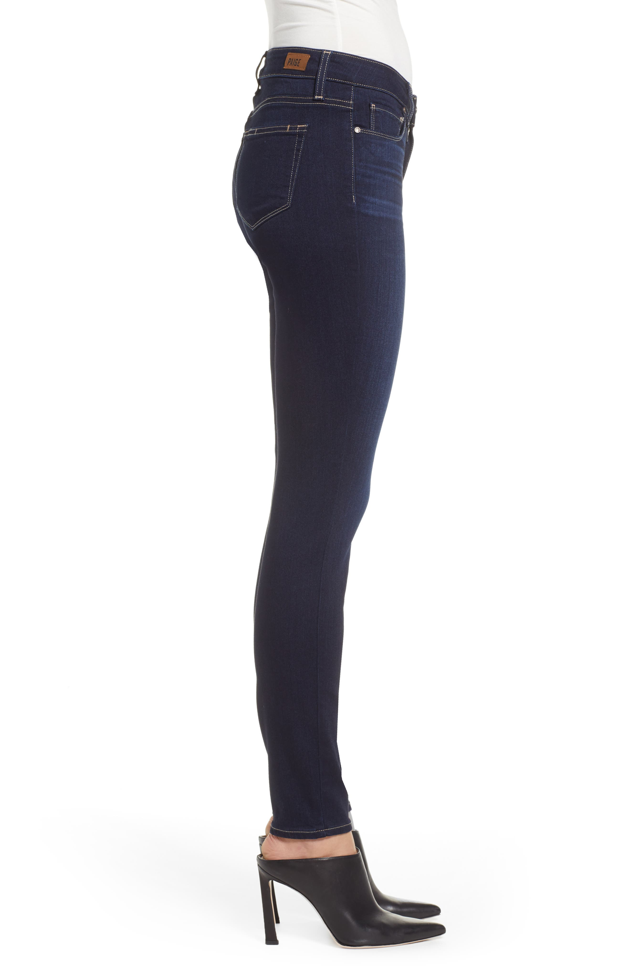 PAIGE,                             Transcend - Verdugo Ultra Skinny Jeans,                             Alternate thumbnail 3, color,                             ACADIA