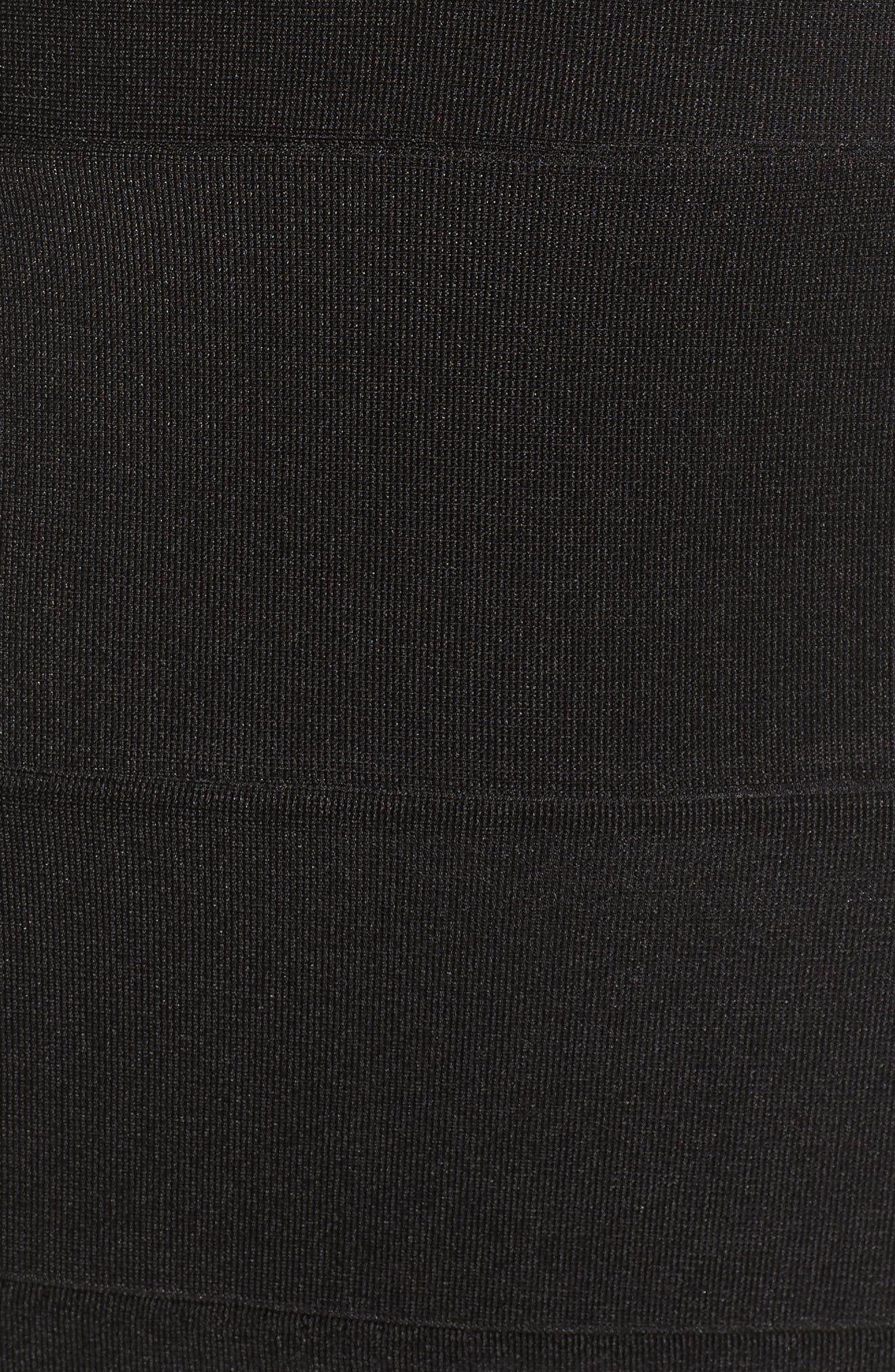 Lace Back Body-Con Dress,                             Alternate thumbnail 5, color,                             001