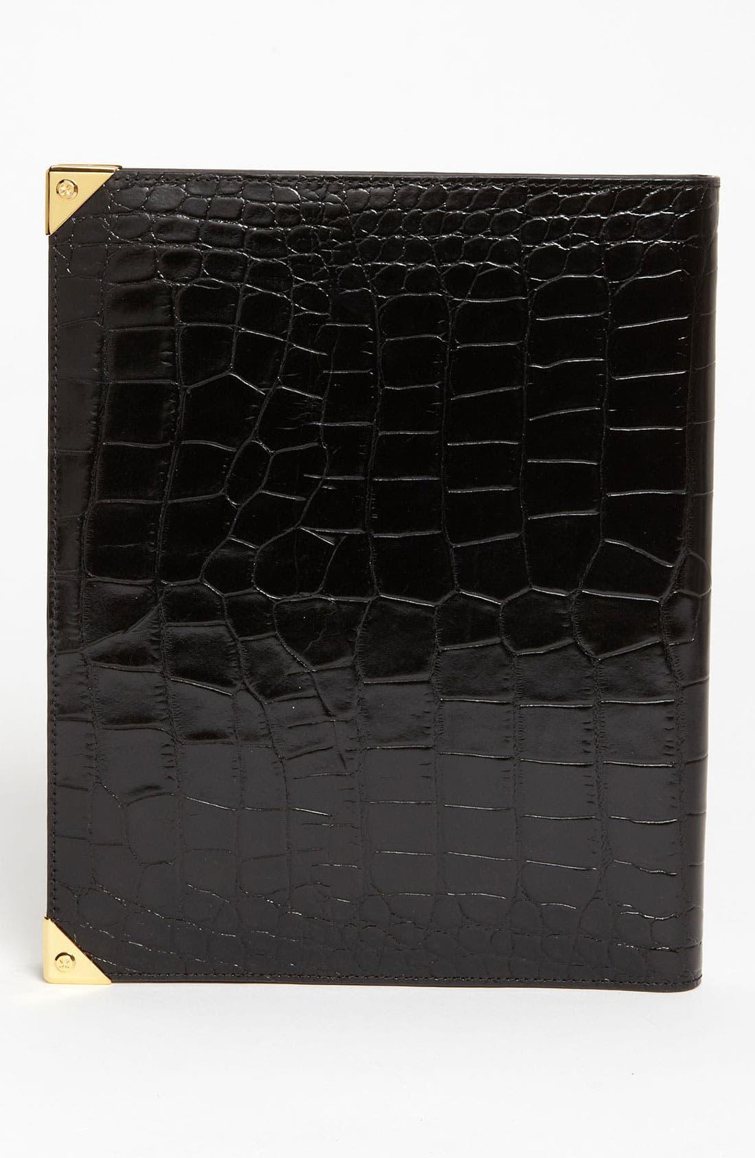 'Prisma' Embossed Leather iPad Case,                             Alternate thumbnail 4, color,                             001