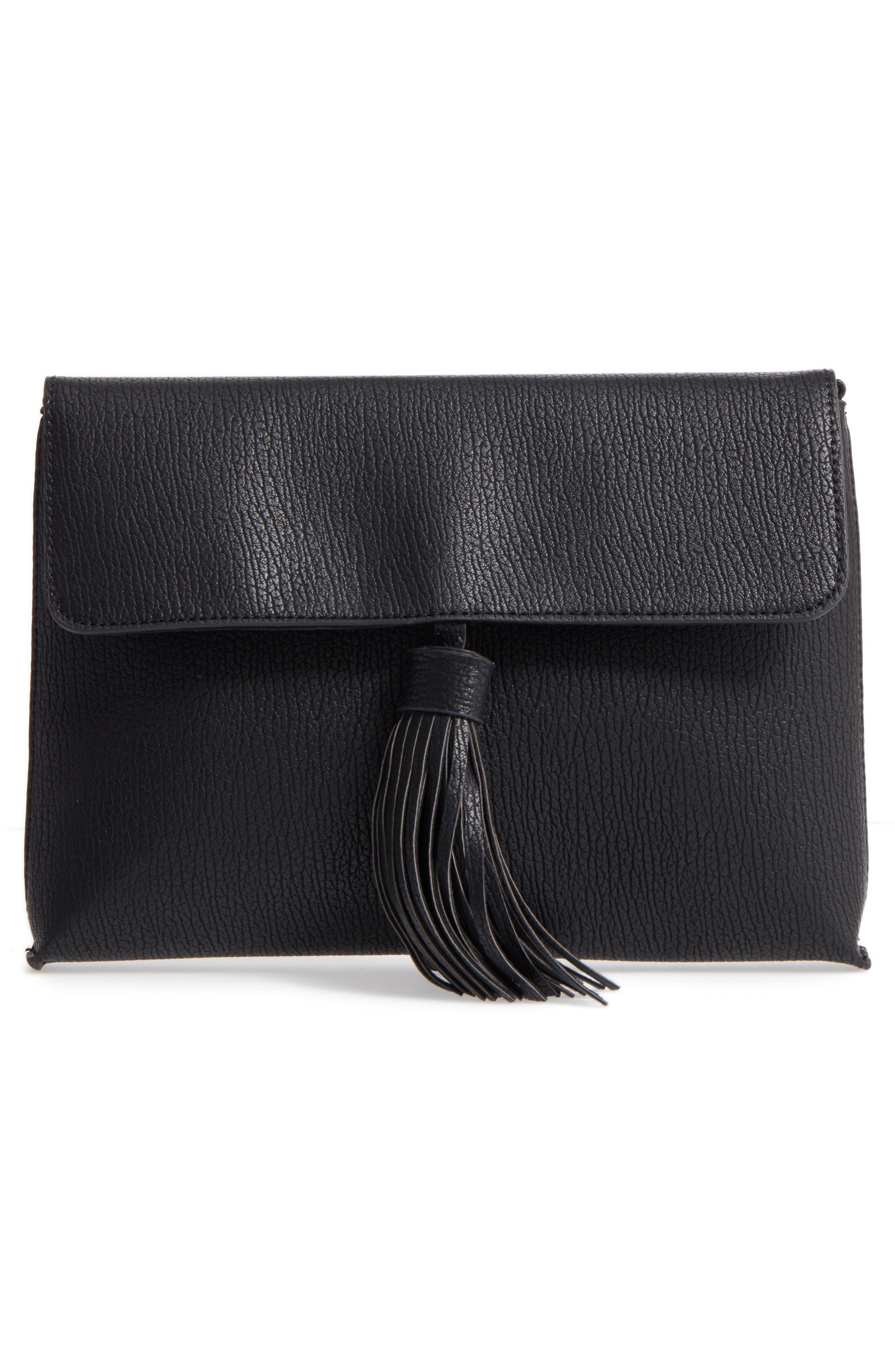 Divya Faux Leather Convertible Clutch,                             Alternate thumbnail 4, color,
