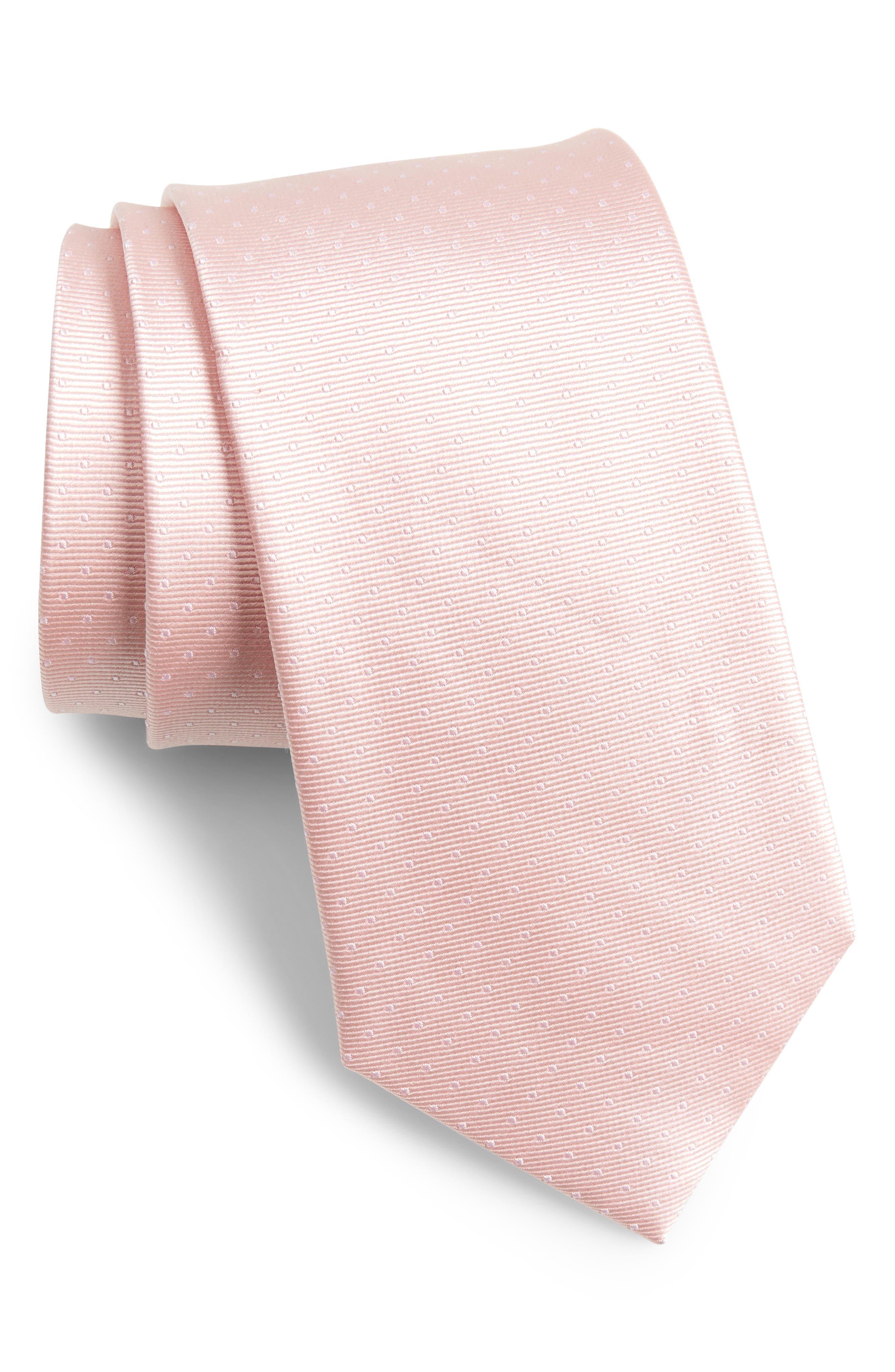 Mini Dots Silk Tie,                             Main thumbnail 4, color,