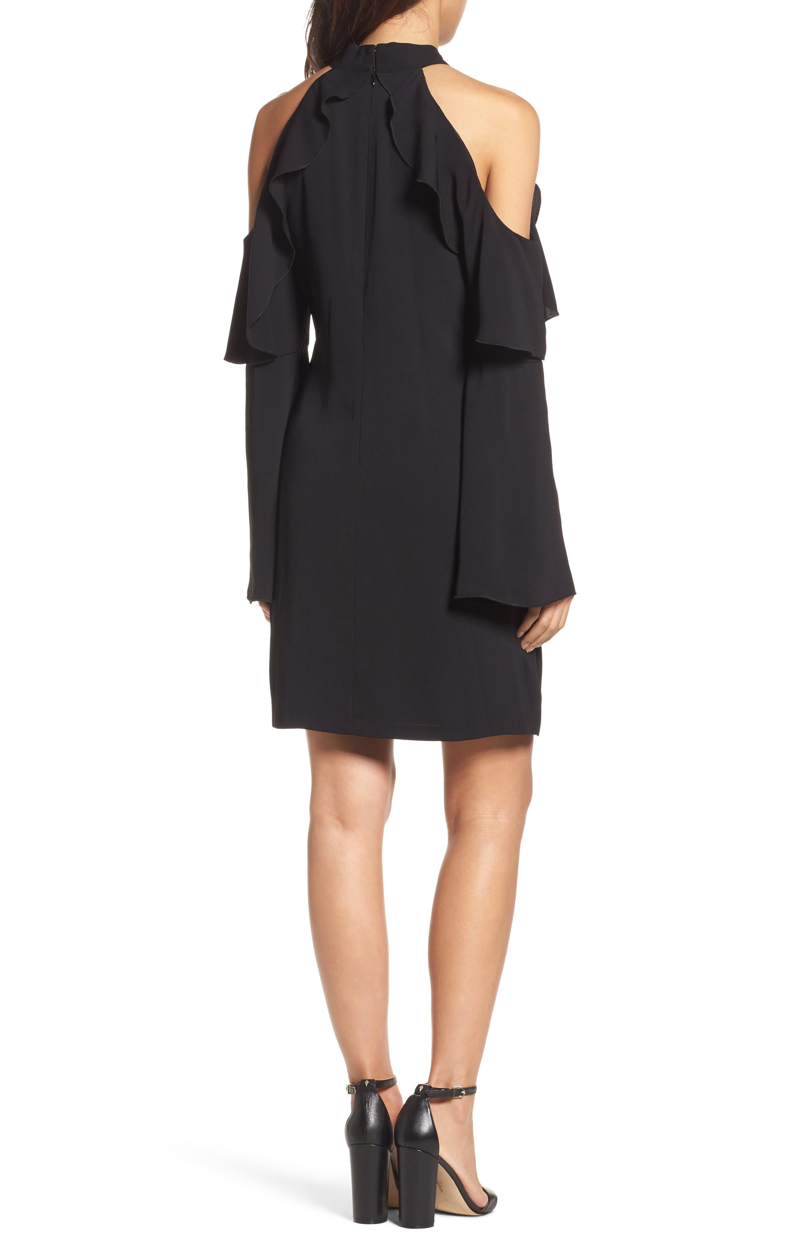 Sydney Cold Shoulder Dress,                             Alternate thumbnail 3, color,
