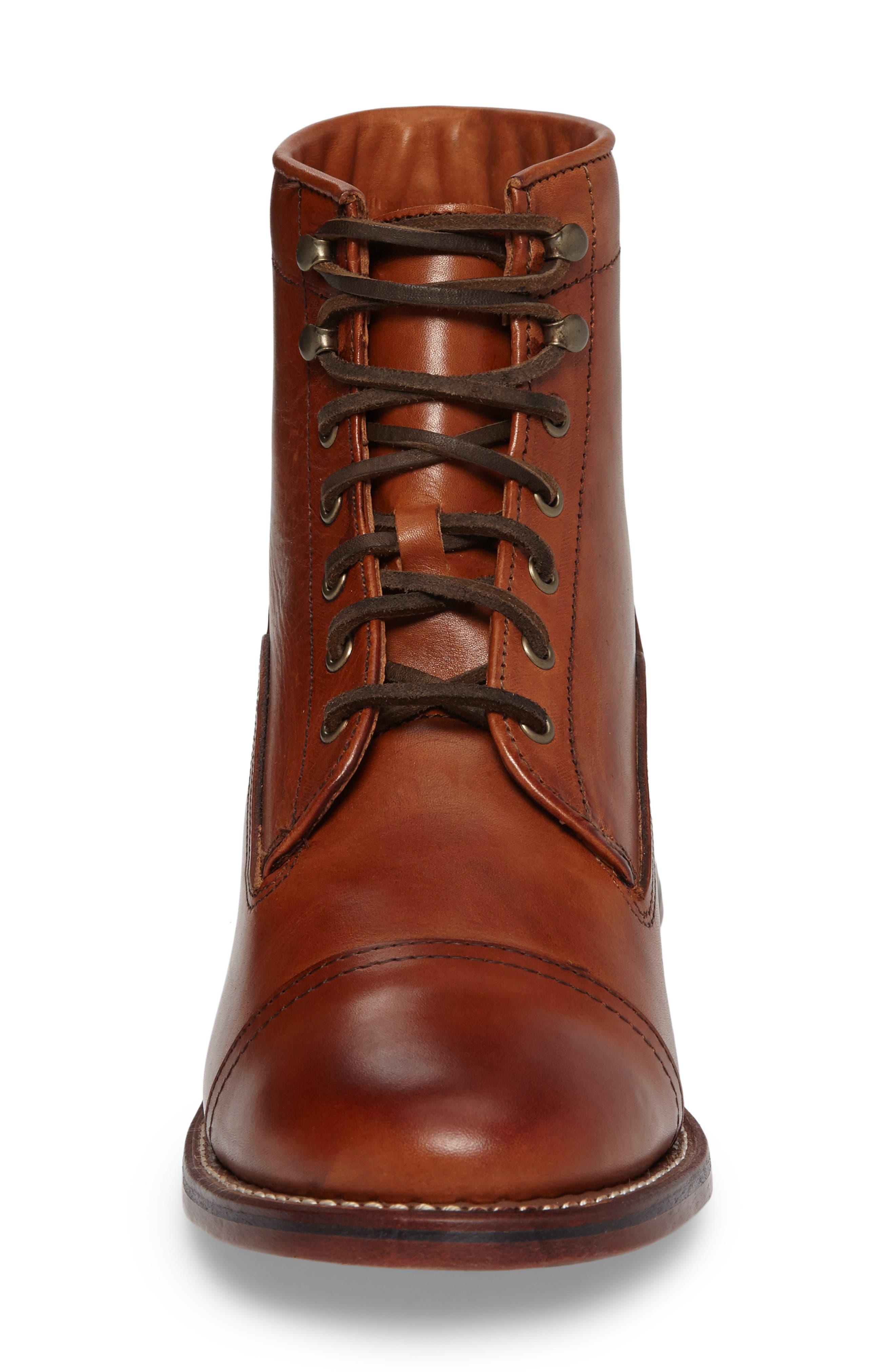 Highlands Cap Toe Boot,                             Alternate thumbnail 4, color,