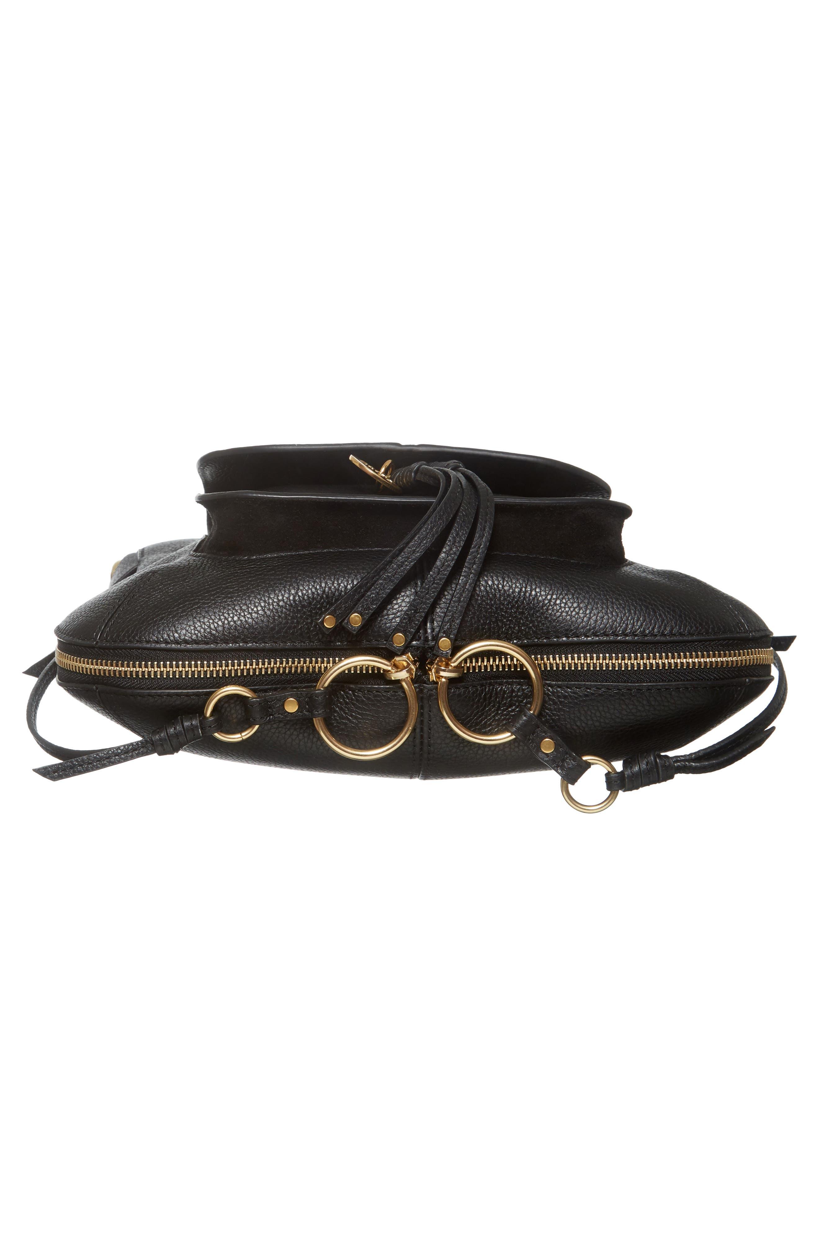 Leather Shoulder Bag,                             Alternate thumbnail 6, color,                             001