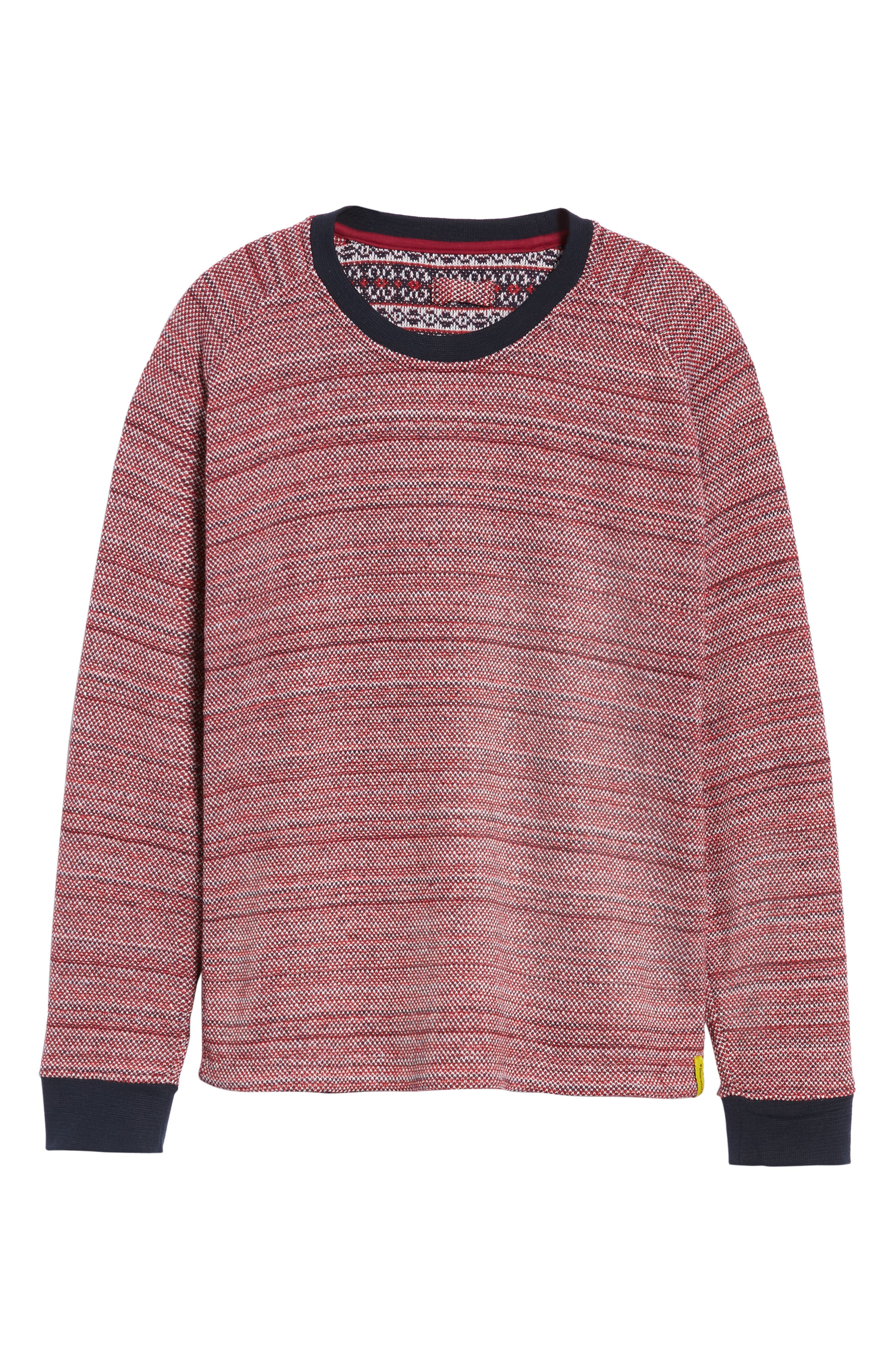 Inside Out Sweater,                             Alternate thumbnail 6, color,                             RED
