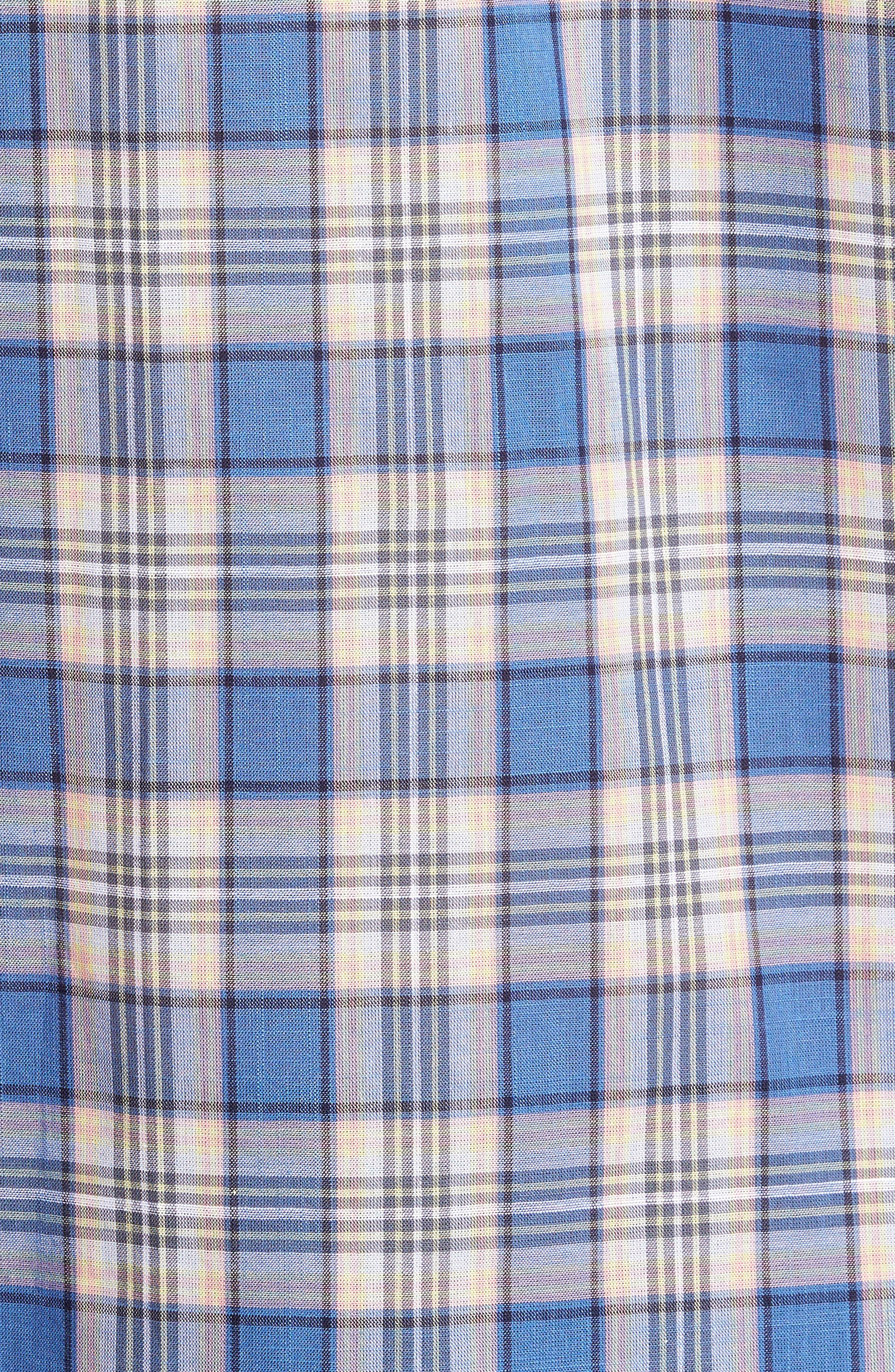 Carter Plaid Sport Shirt,                             Alternate thumbnail 5, color,                             400