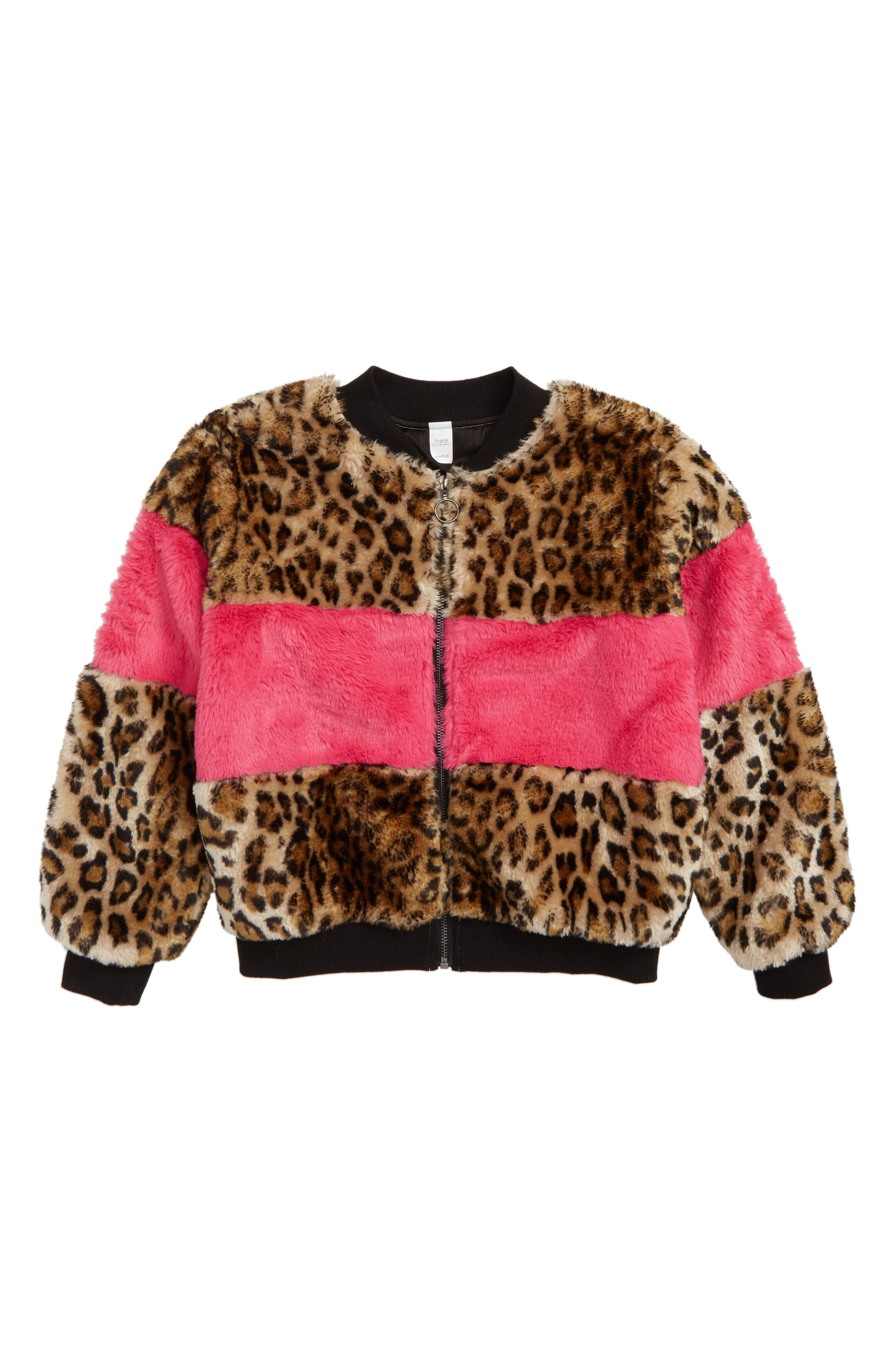 Faux Fur Bomber Jacket,                         Main,                         color, 235
