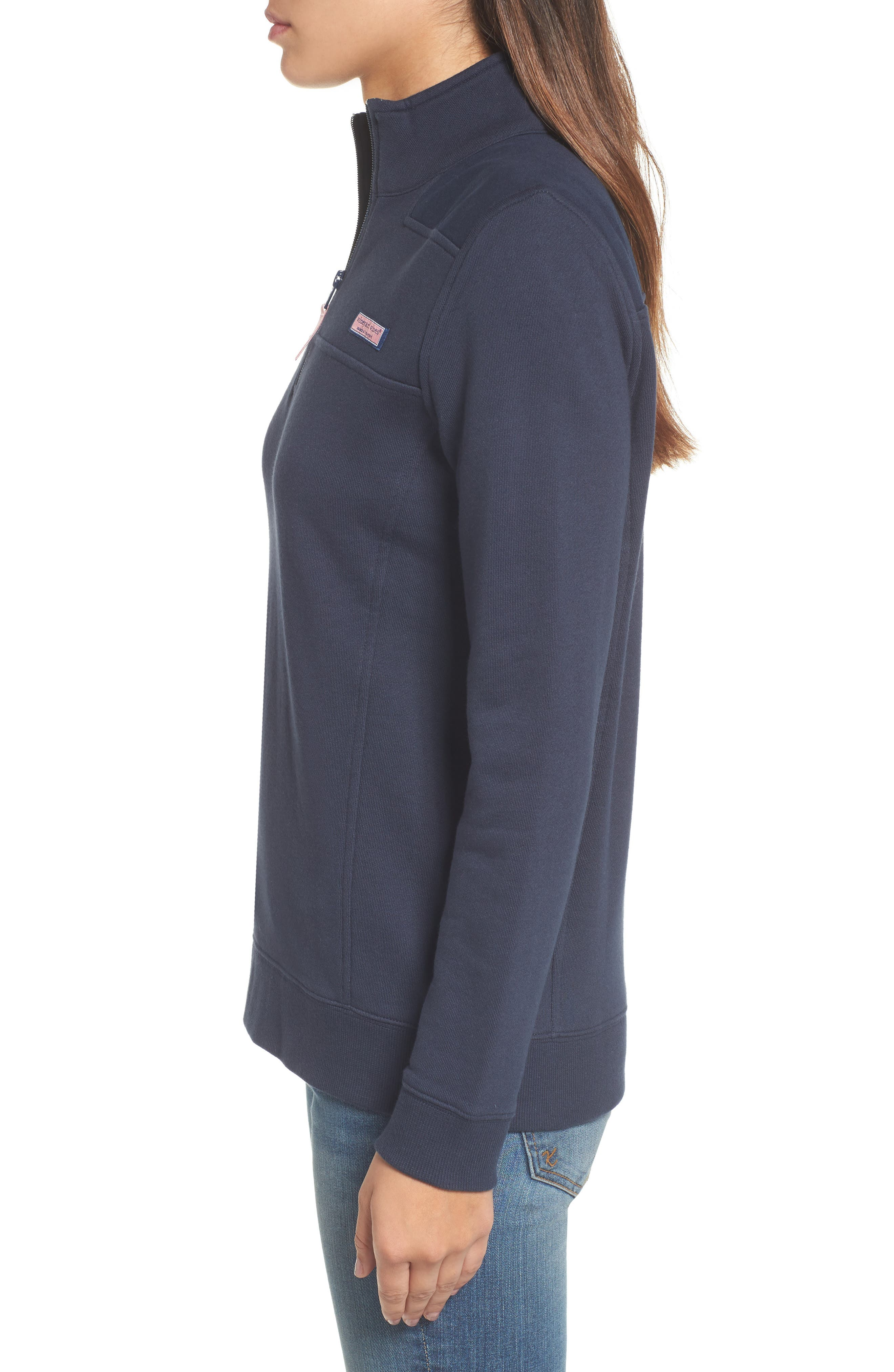 Shep Half Zip French Terry Pullover,                             Alternate thumbnail 3, color,                             VINEYARD NAVY