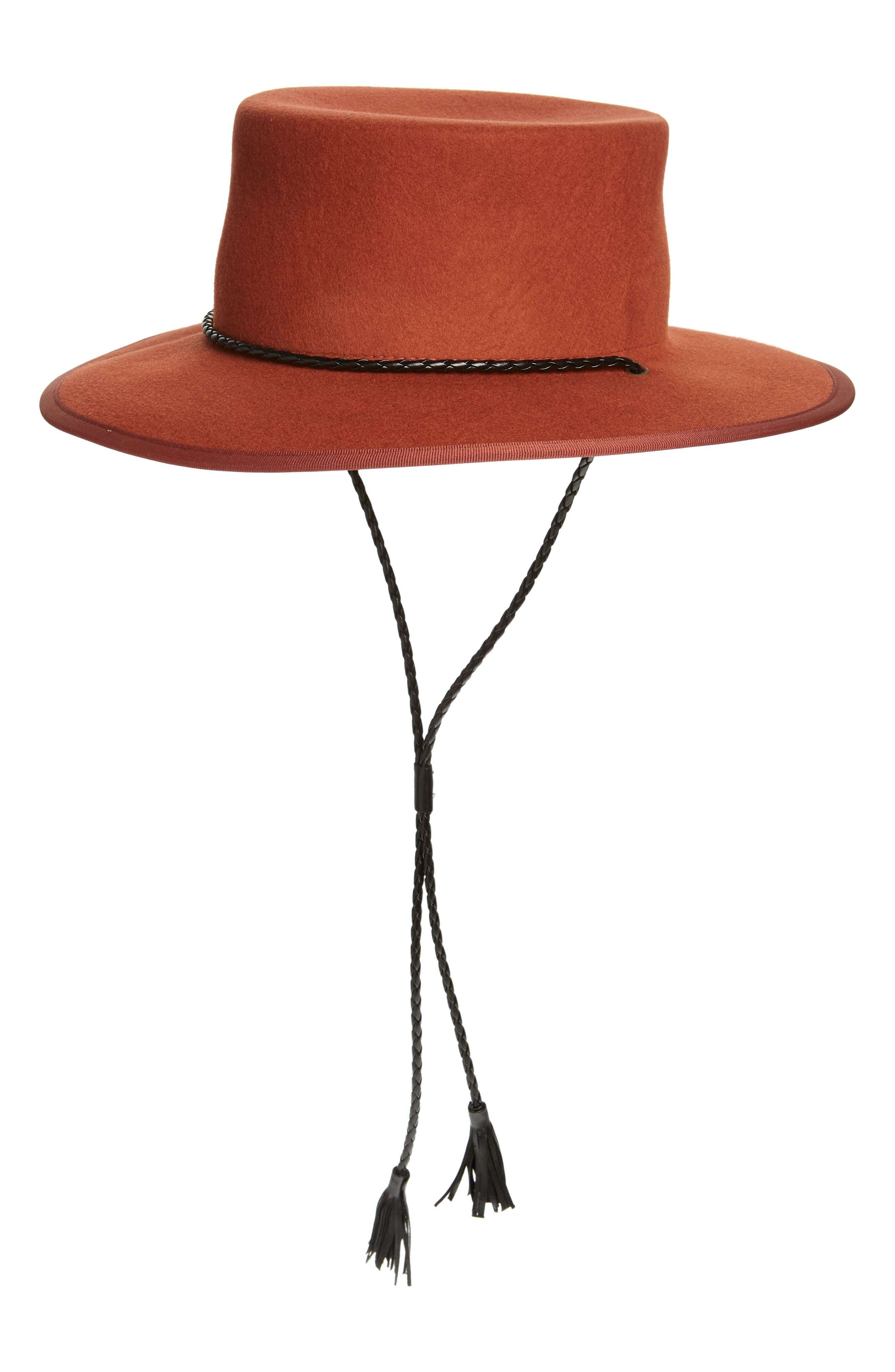 x Biltmore<sup>®</sup> Felt Stampede Strap Hat,                             Main thumbnail 1, color,                             SPICED CIDER