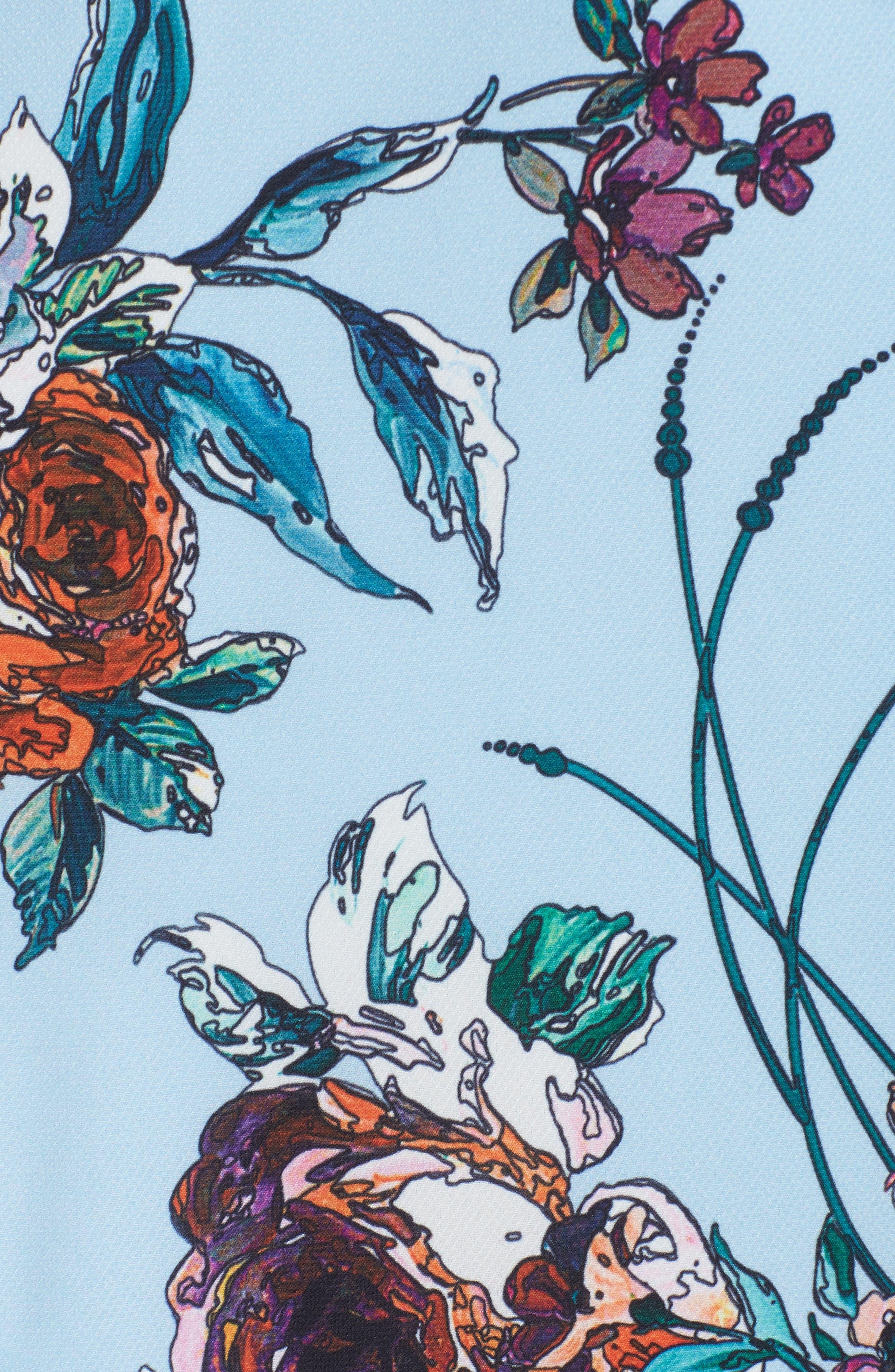 COOPER ST,                              Botanical Asymmetric Ruffle Sundress,                             Alternate thumbnail 5, color,                             468