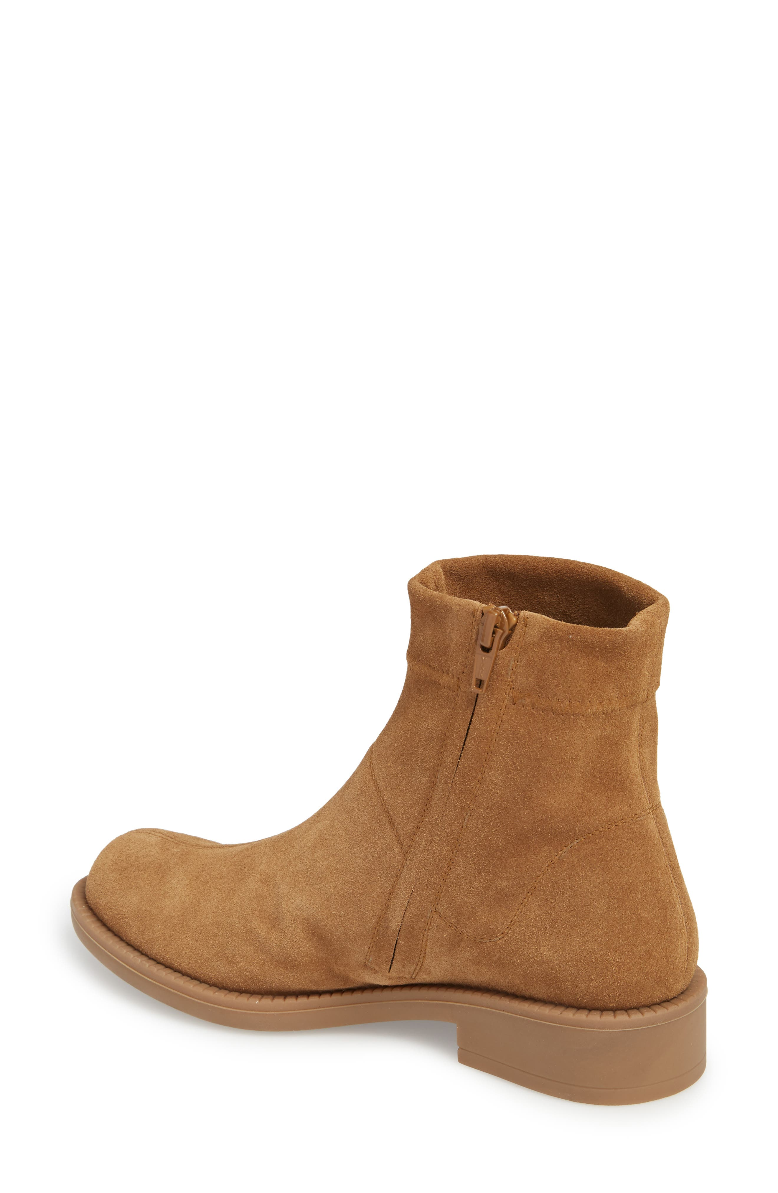 Kana Low Bootie,                             Alternate thumbnail 2, color,                             TOBACCO STRETCH  SUEDE