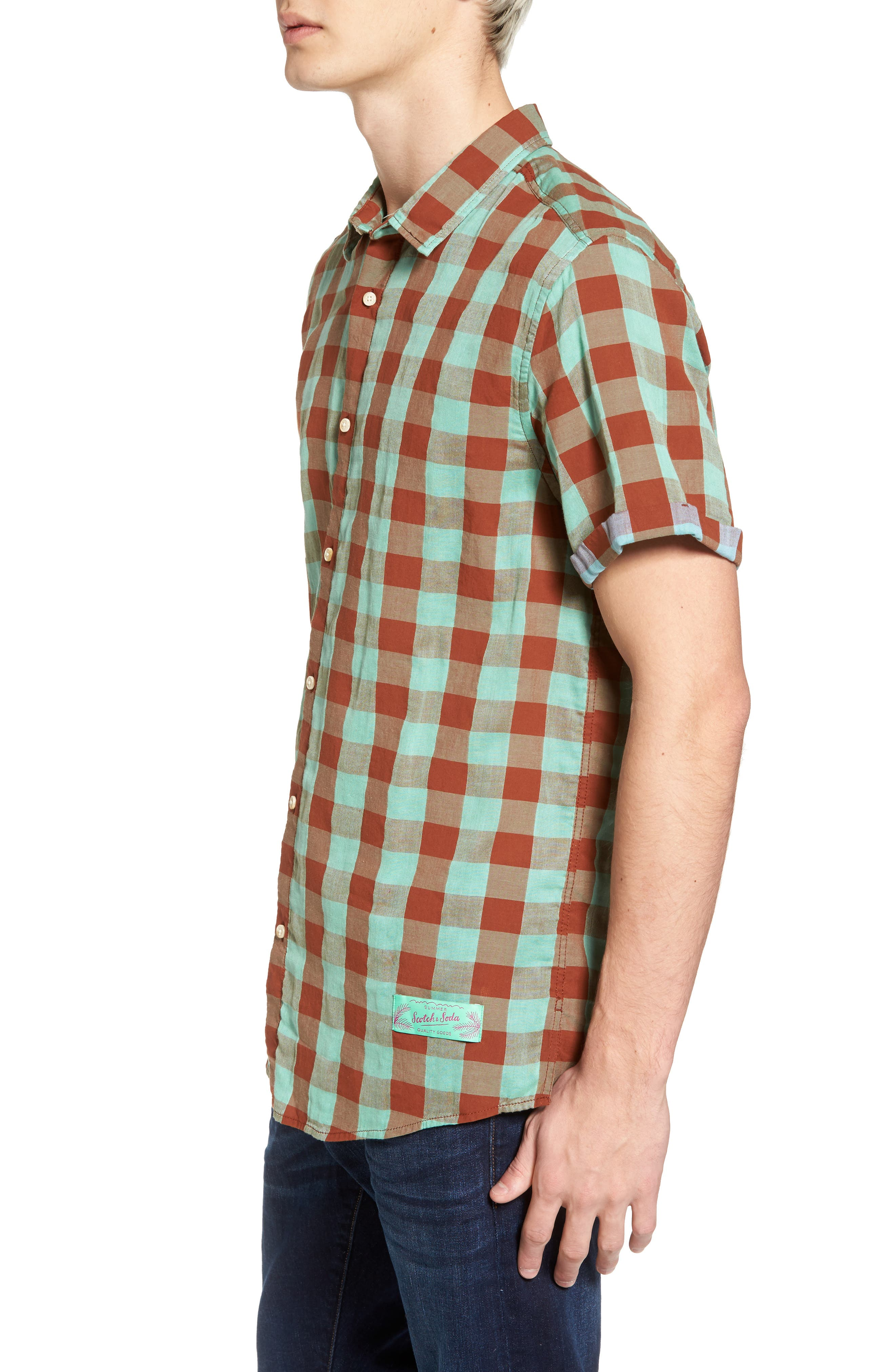 Check Woven Shirt,                             Alternate thumbnail 3, color,