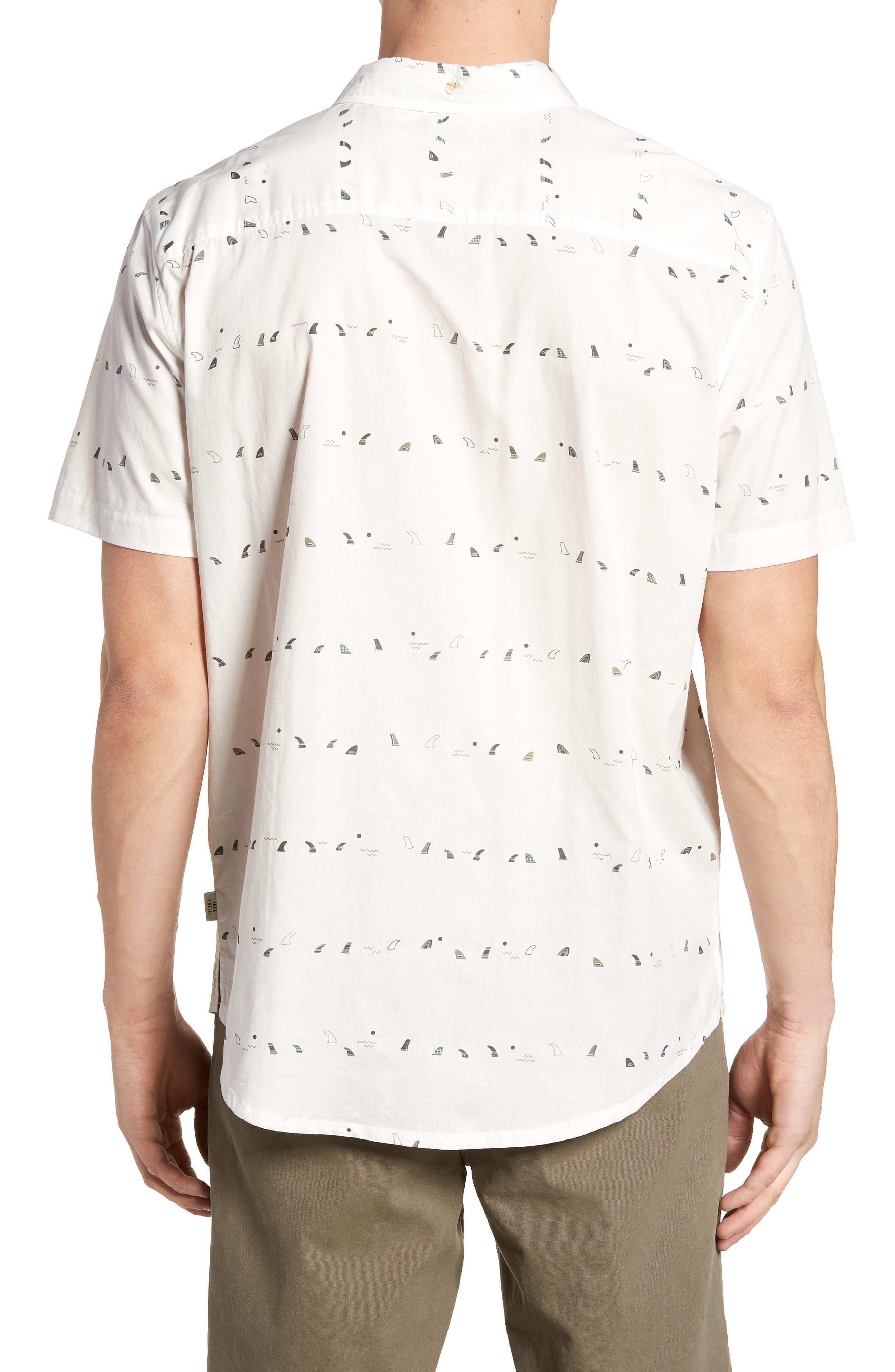 Single Fin Regular Fit Short Sleeve Sport Shirt,                             Alternate thumbnail 3, color,
