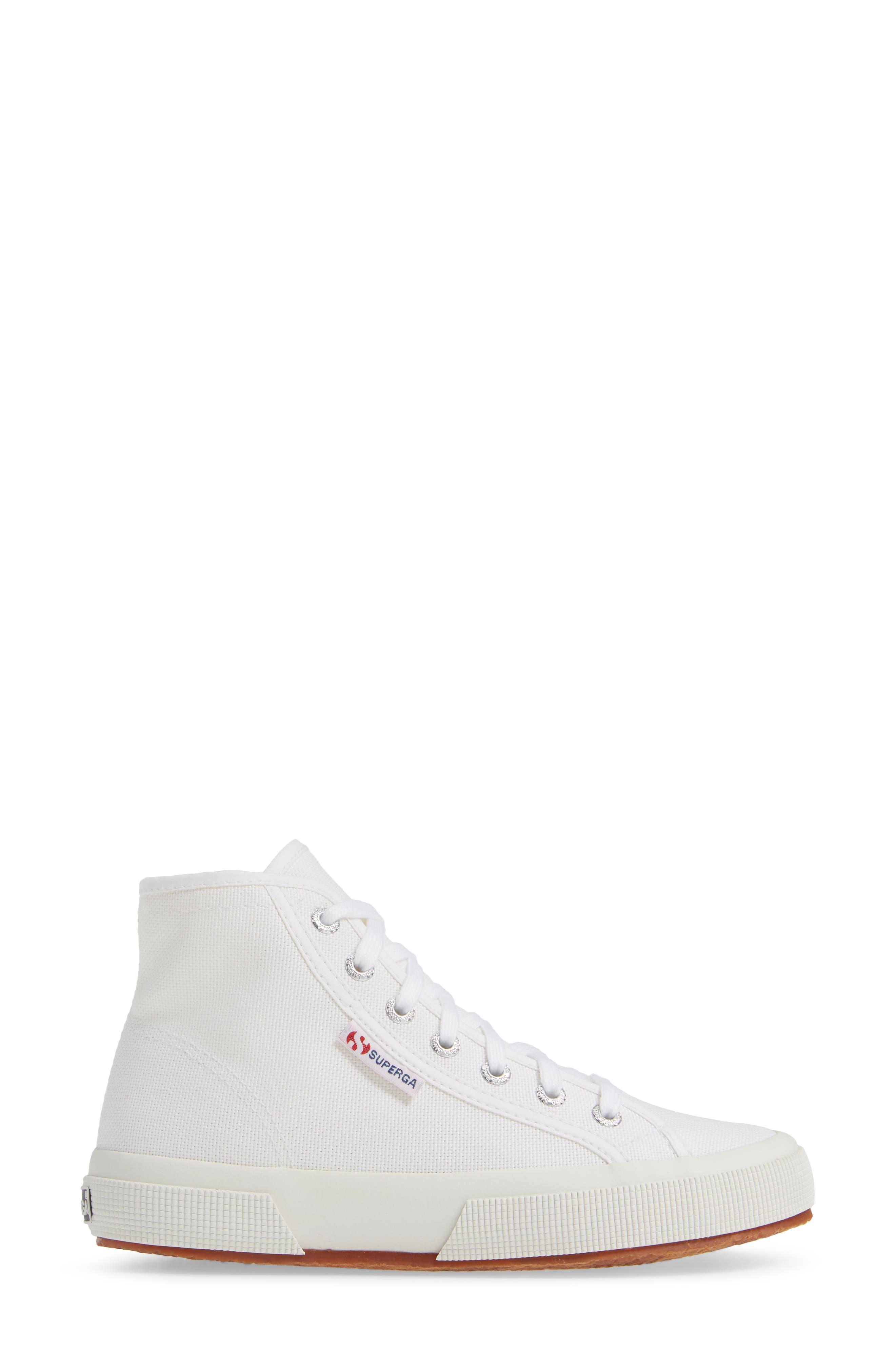 2795 High Top Sneaker,                             Alternate thumbnail 3, color,                             WHITE