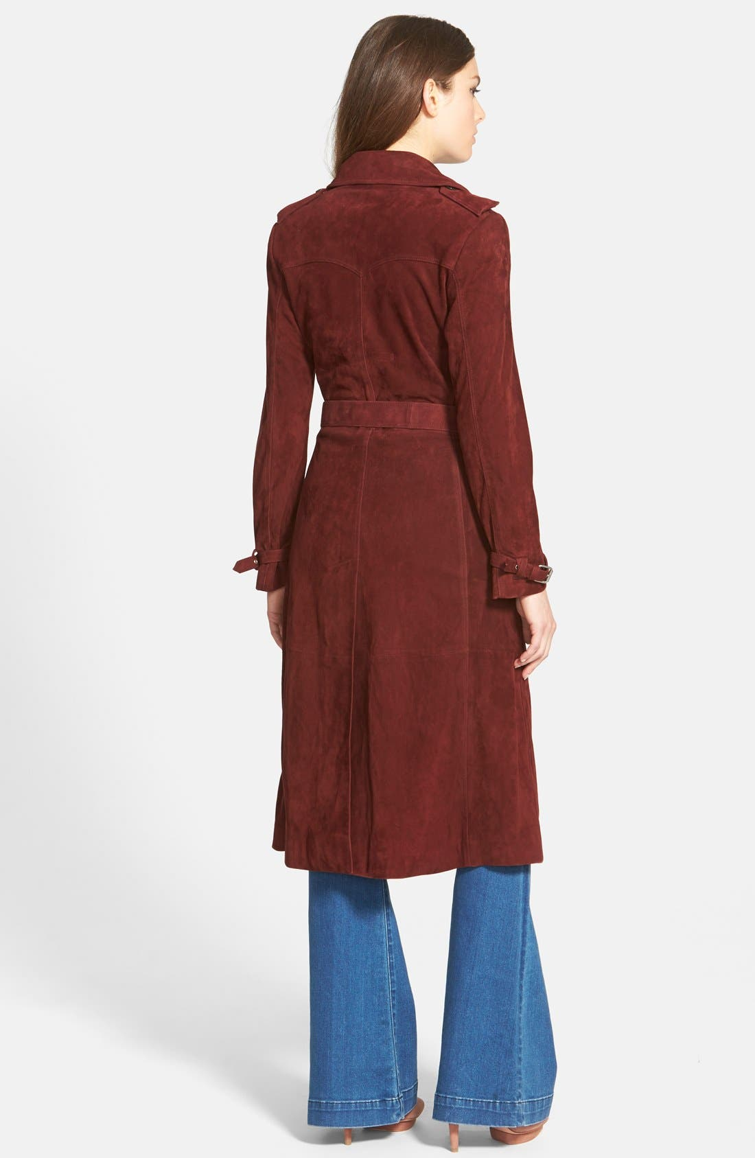 RebeccaMinkoff'Amis' SuedeTrench Coat,                             Alternate thumbnail 2, color,                             930