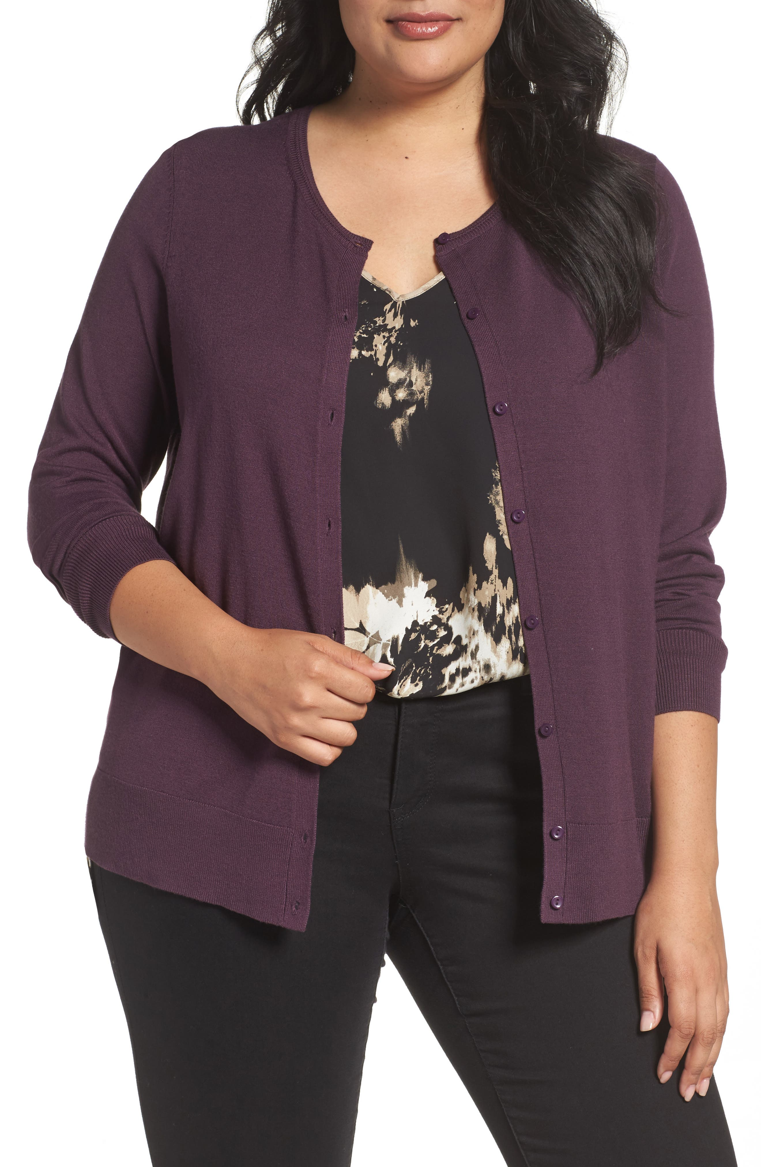 Button Front Cardigan,                             Main thumbnail 11, color,