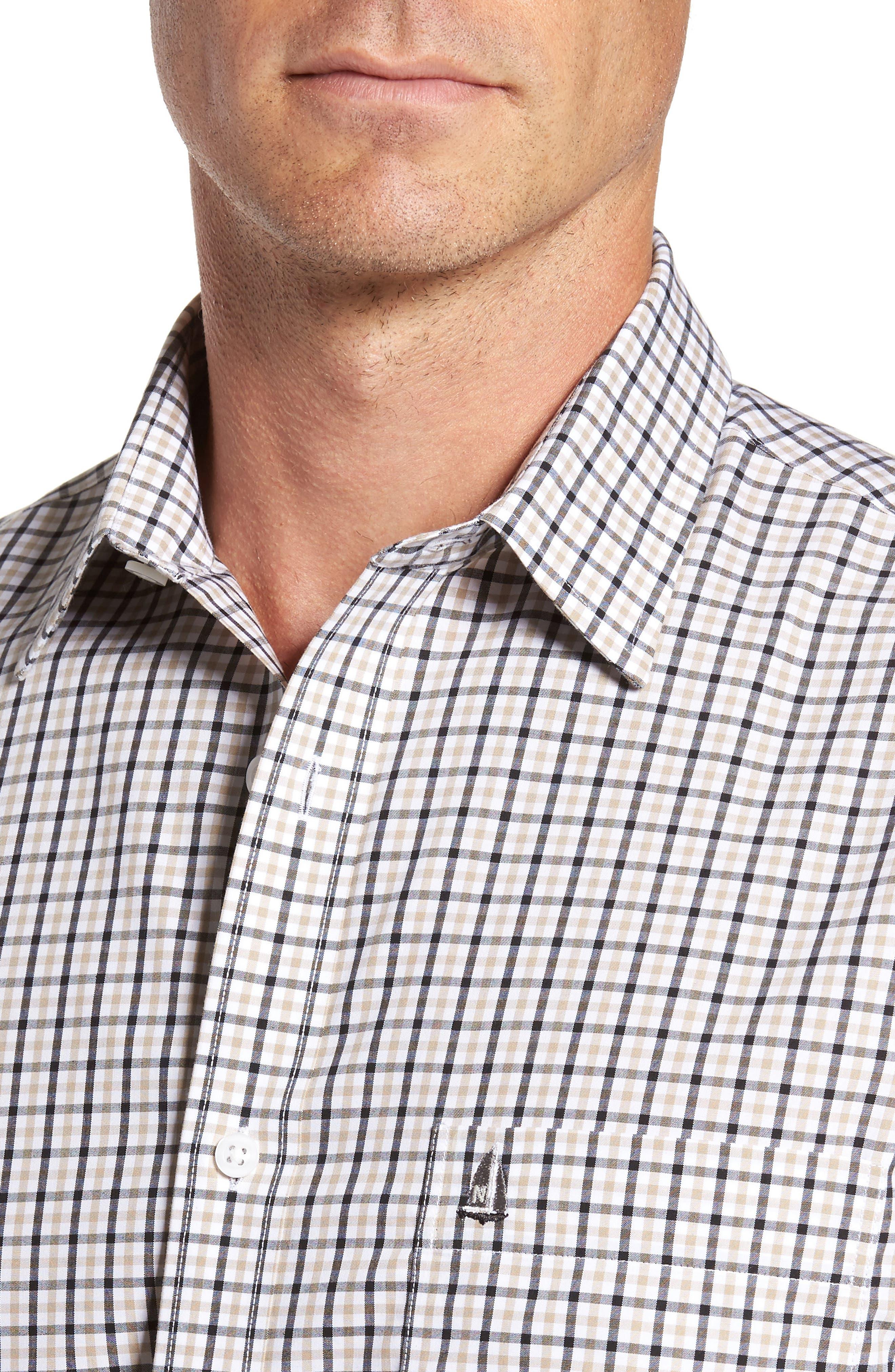 Smartcare<sup>™</sup> Regular Fit Plaid Sport Shirt,                             Alternate thumbnail 25, color,