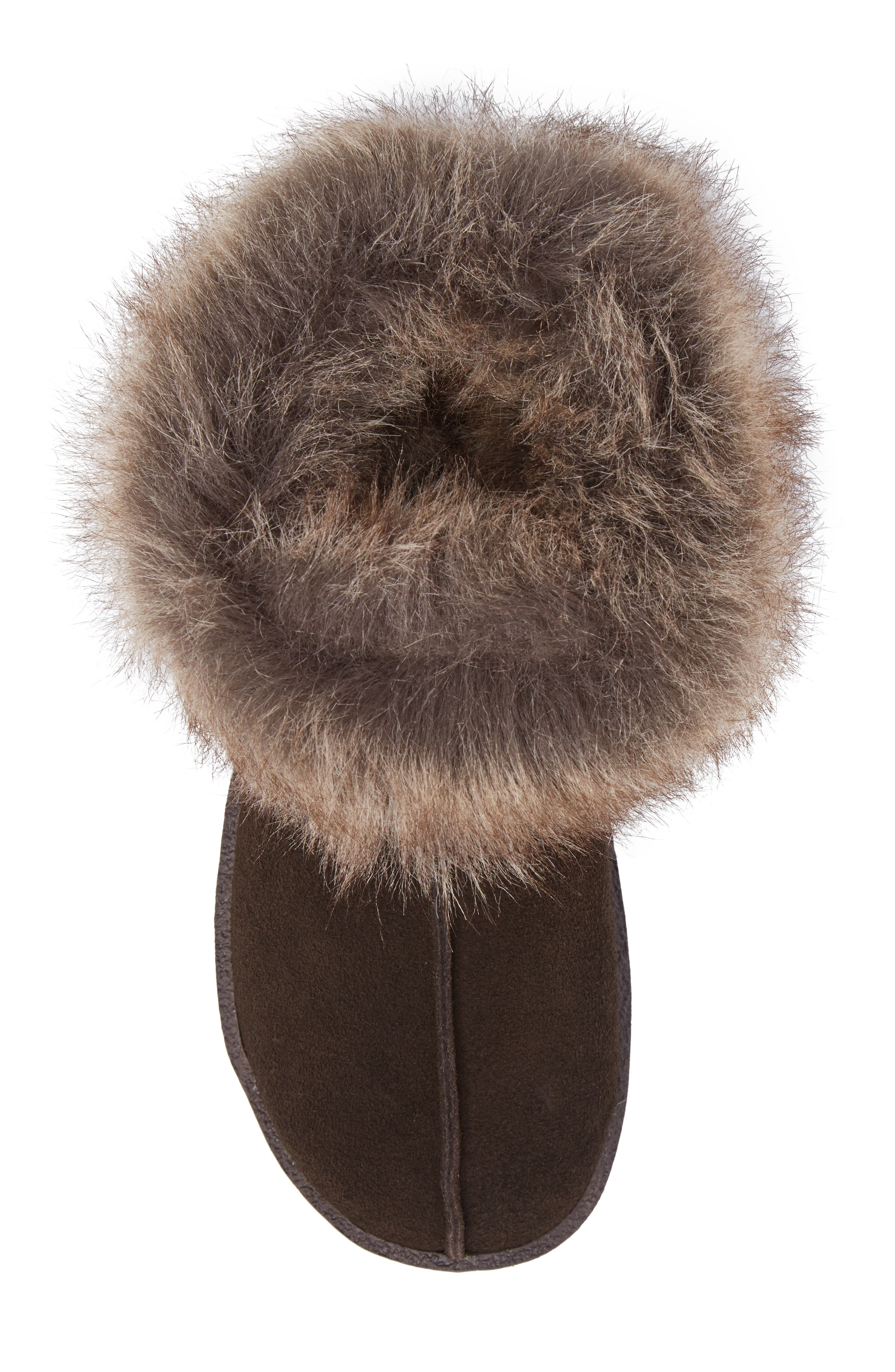 Autumn Ridge II Faux Fur Slipper Bootie,                             Alternate thumbnail 9, color,