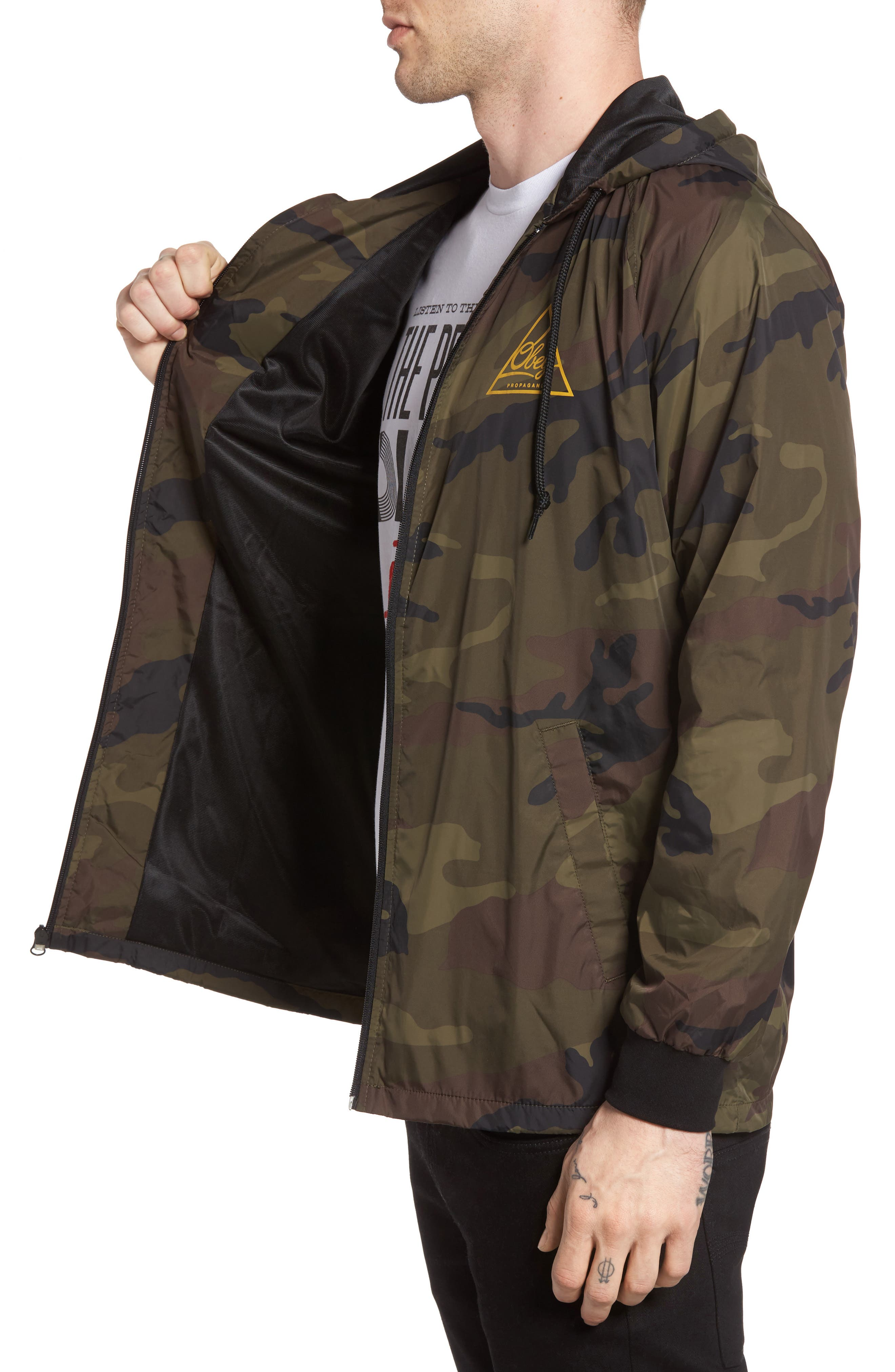 Next Round 2 Hooded Coach Jacket,                             Alternate thumbnail 4, color,                             305