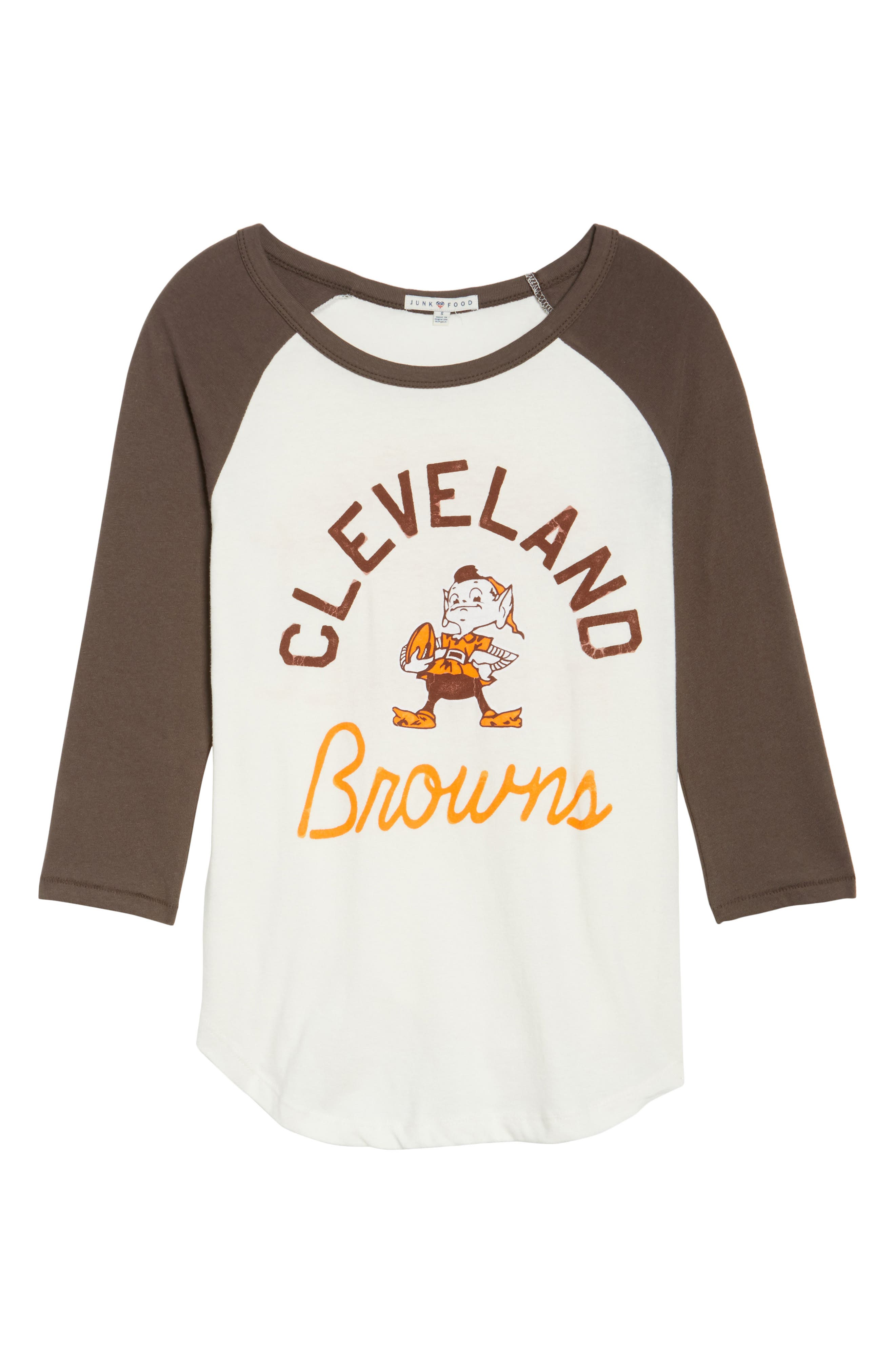 NFL Cleveland Browns Raglan Tee,                             Alternate thumbnail 6, color,                             189