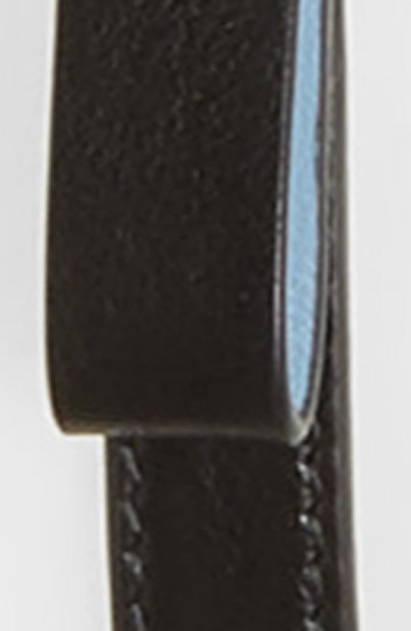 City Sport Bow Skinny Leather Belt,                             Alternate thumbnail 2, color,                             NERO