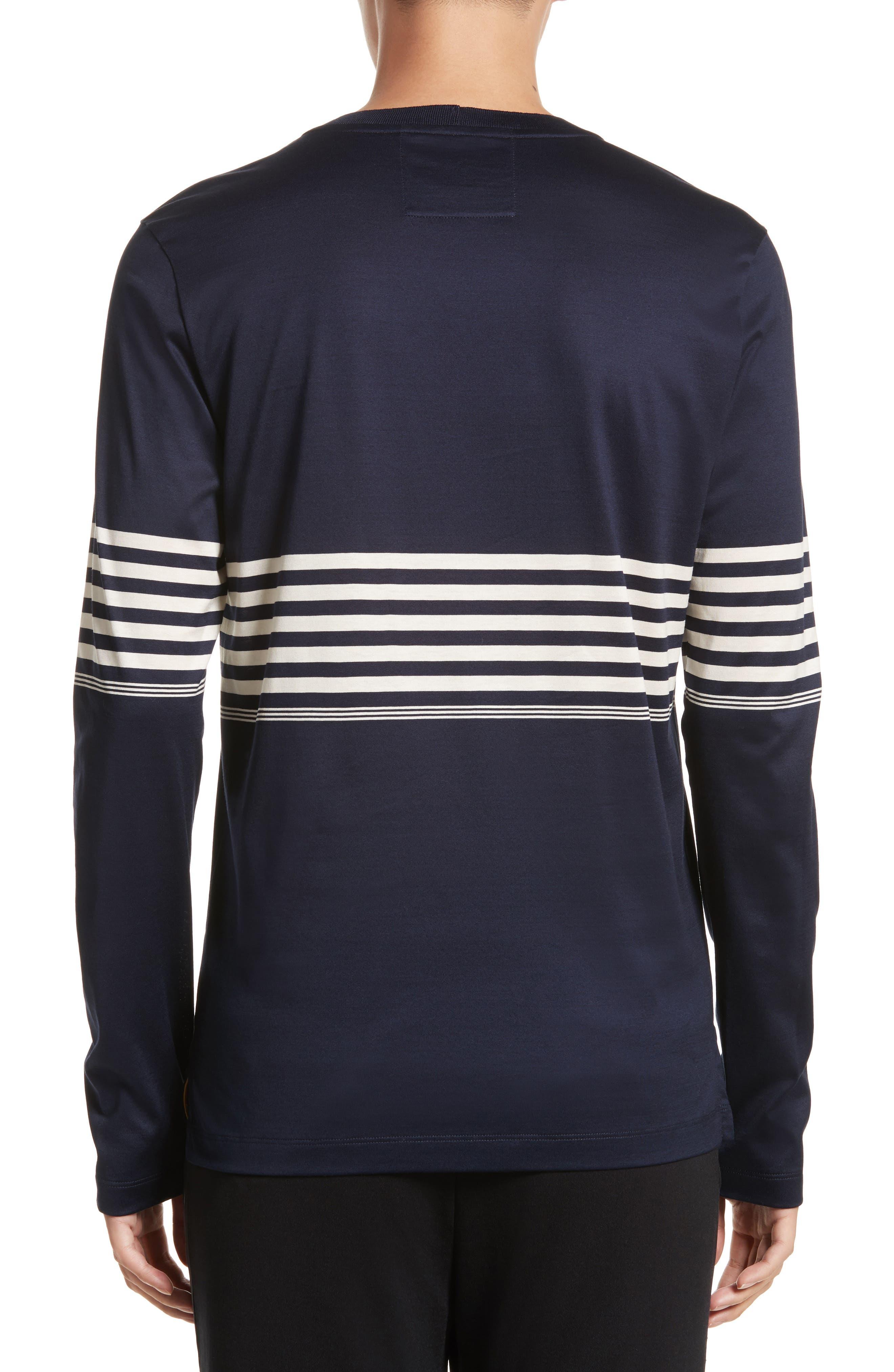 Stripe Long Sleeve T-Shirt,                             Alternate thumbnail 2, color,                             410
