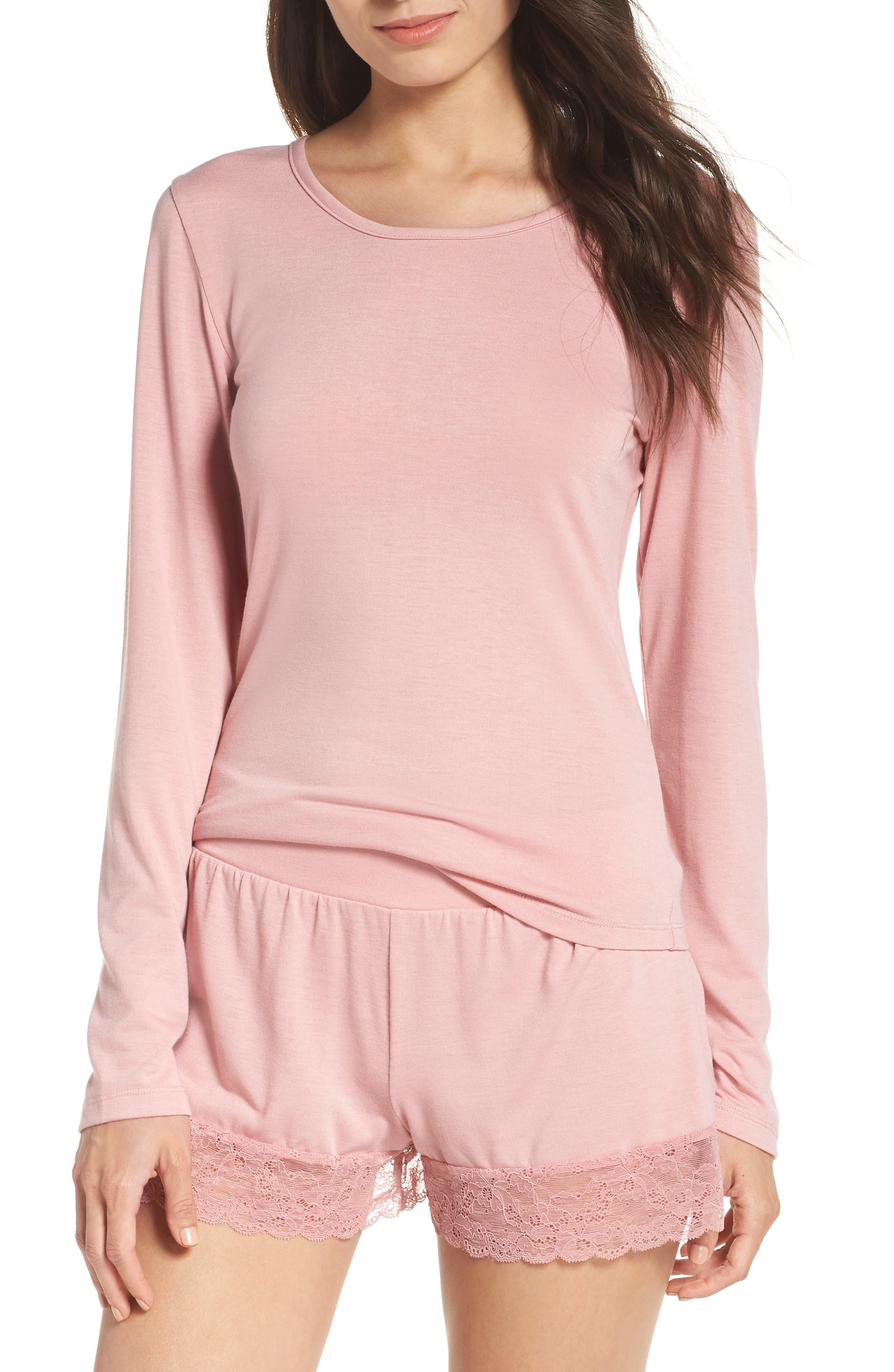 Honeydew Intimates Sheer Luck Pajamas, Pink