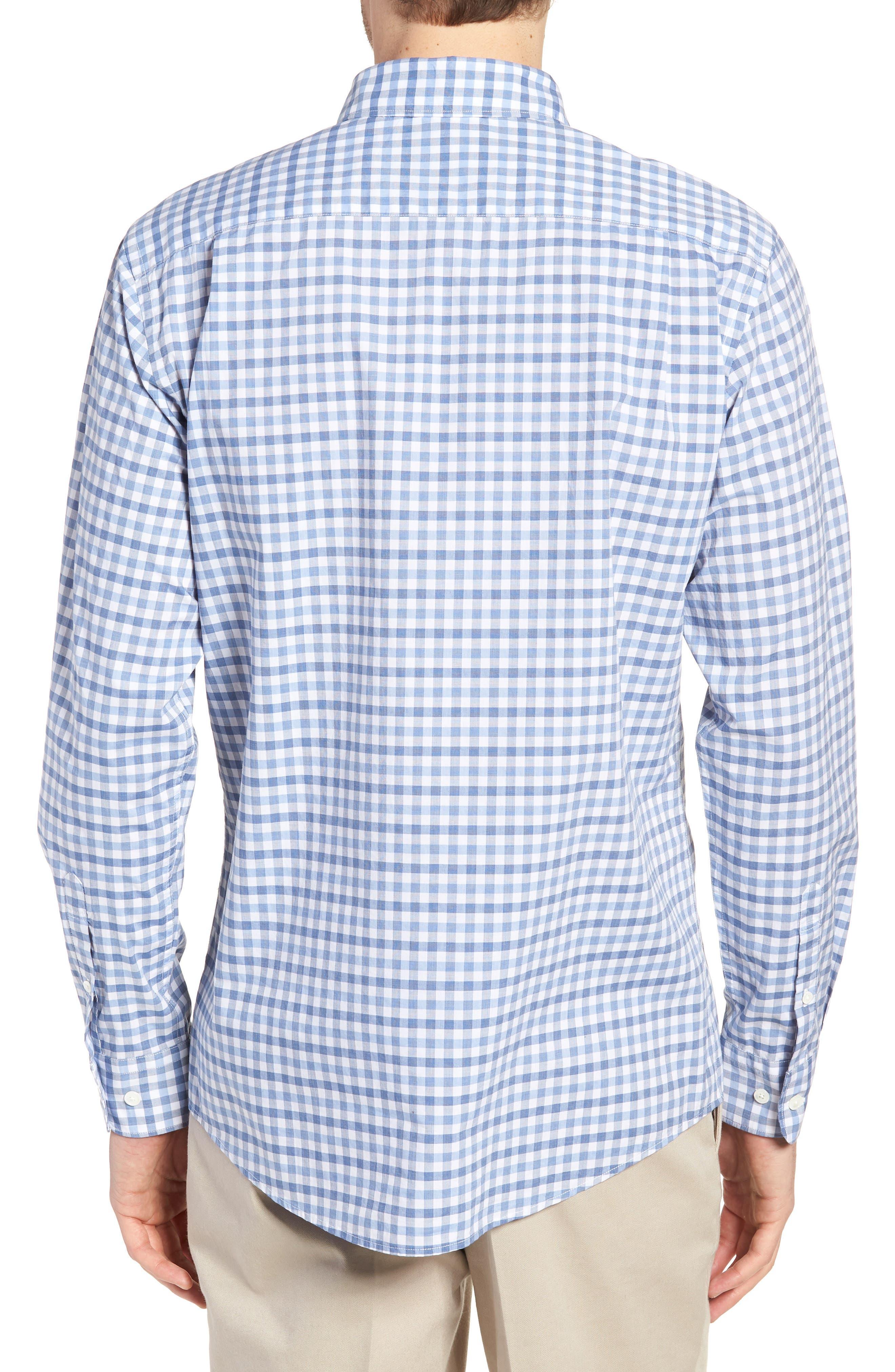 Shorecliffe Regular Fit Gingham Sport Shirt,                             Alternate thumbnail 2, color,                             414