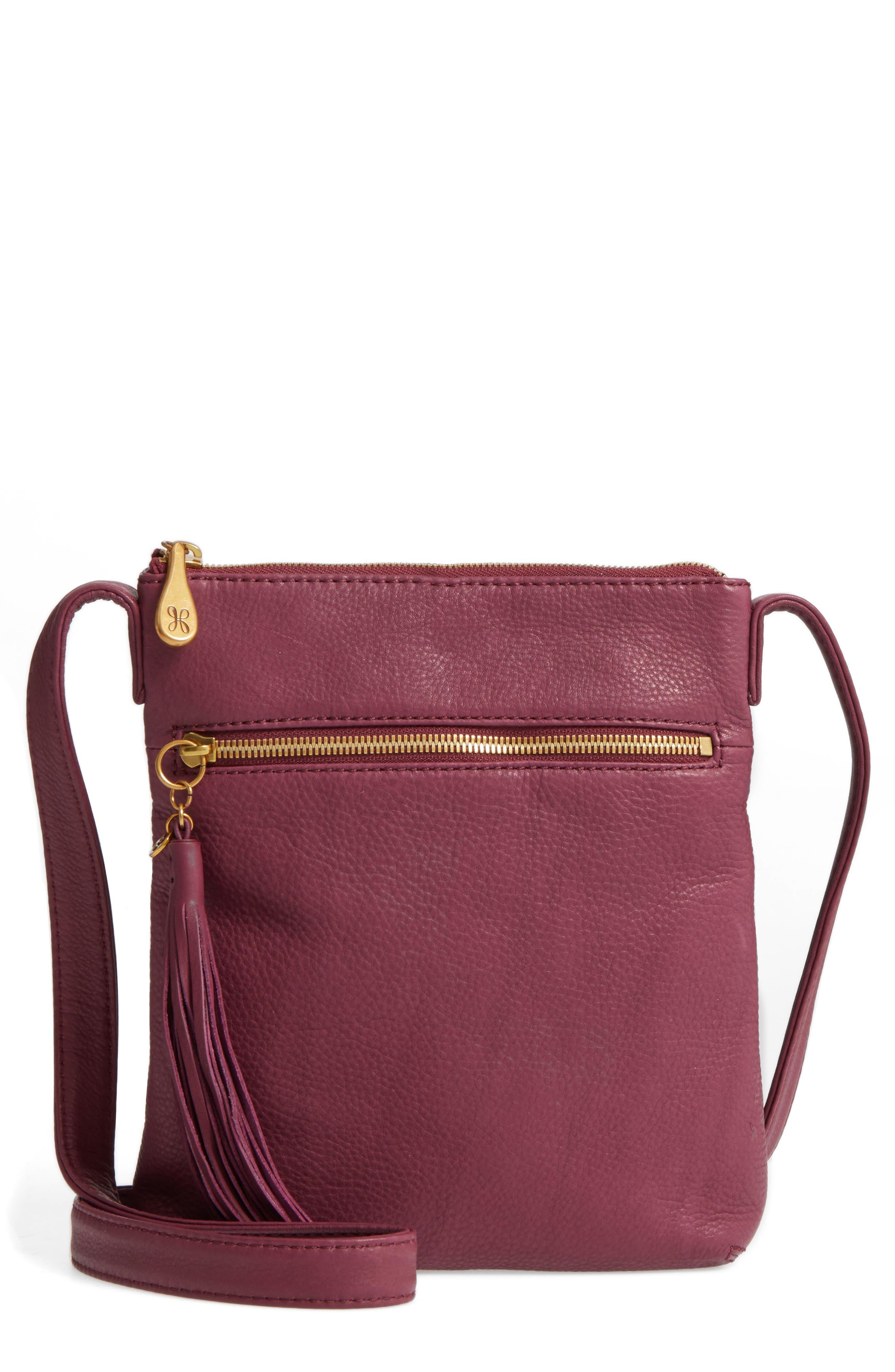 'Sarah' Leather Crossbody Bag,                             Main thumbnail 7, color,