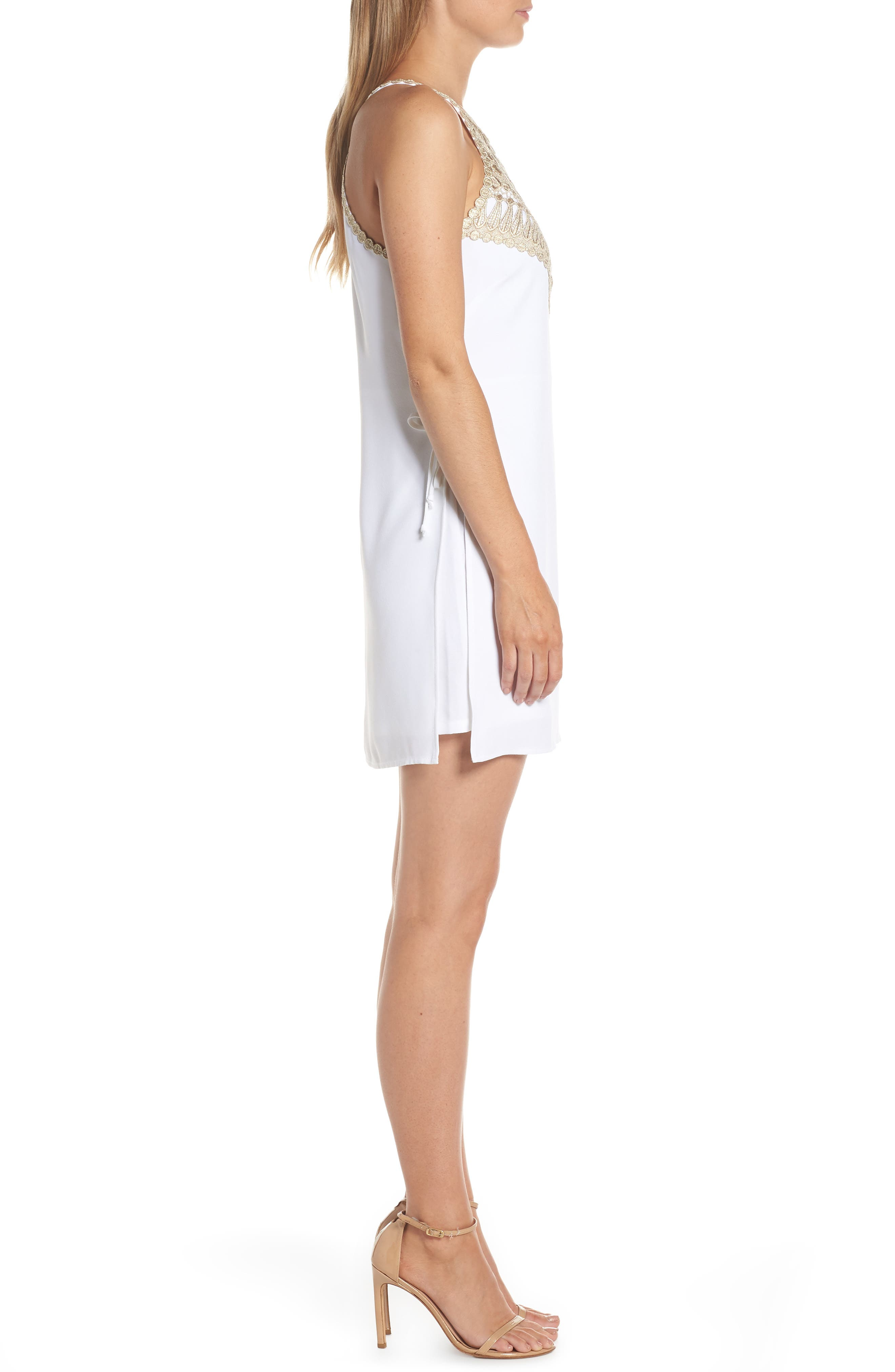 LILLY PULITZER<SUP>®</SUP>,                             Pearl Romper Dress,                             Alternate thumbnail 3, color,                             RESORT WHITE