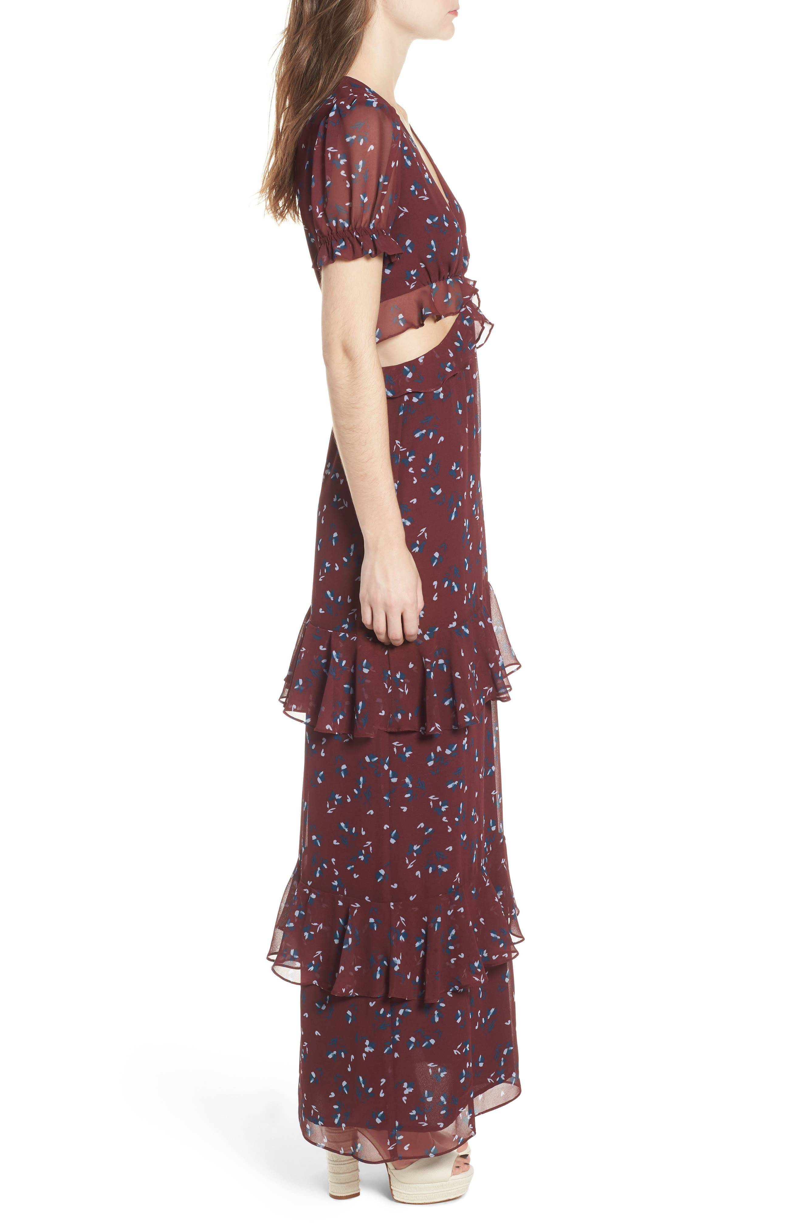 Laviana Maxi Dress,                             Alternate thumbnail 3, color,                             930