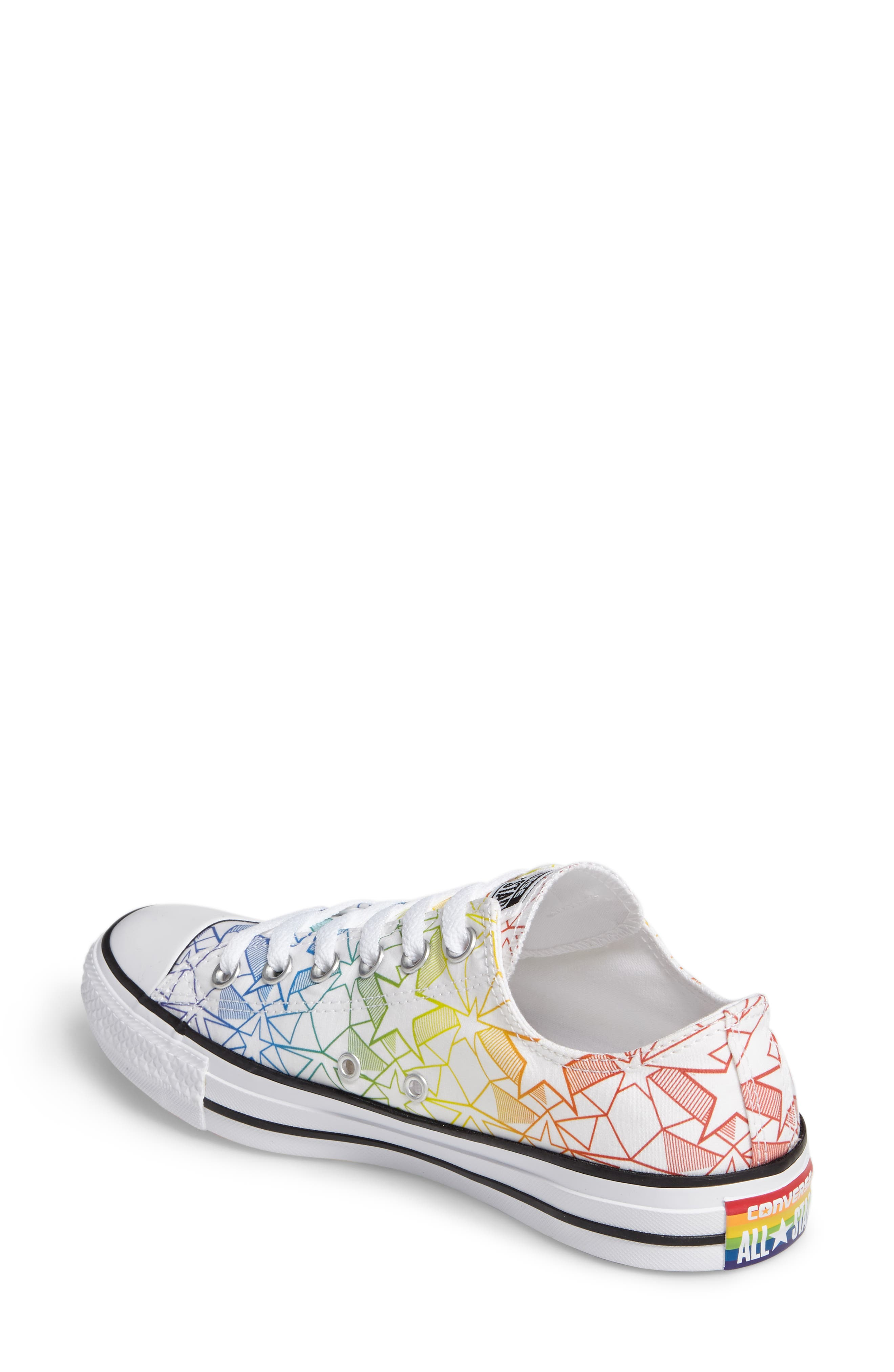 Chuck Taylor<sup>®</sup> All Star<sup>®</sup> Pride Low Top Sneaker,                             Alternate thumbnail 2, color,                             100