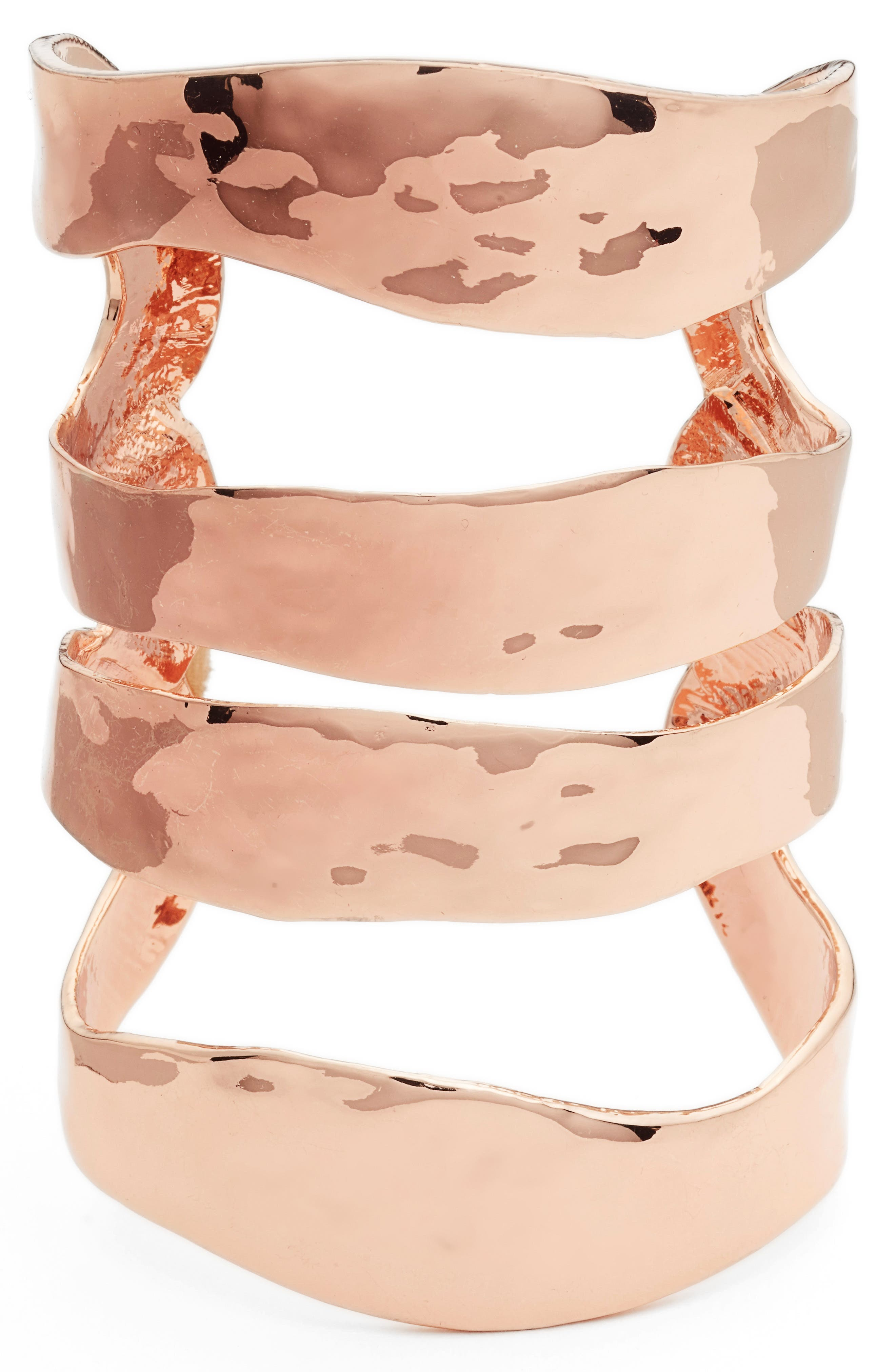 Four Row Cuff,                         Main,                         color, ROSE GOLD