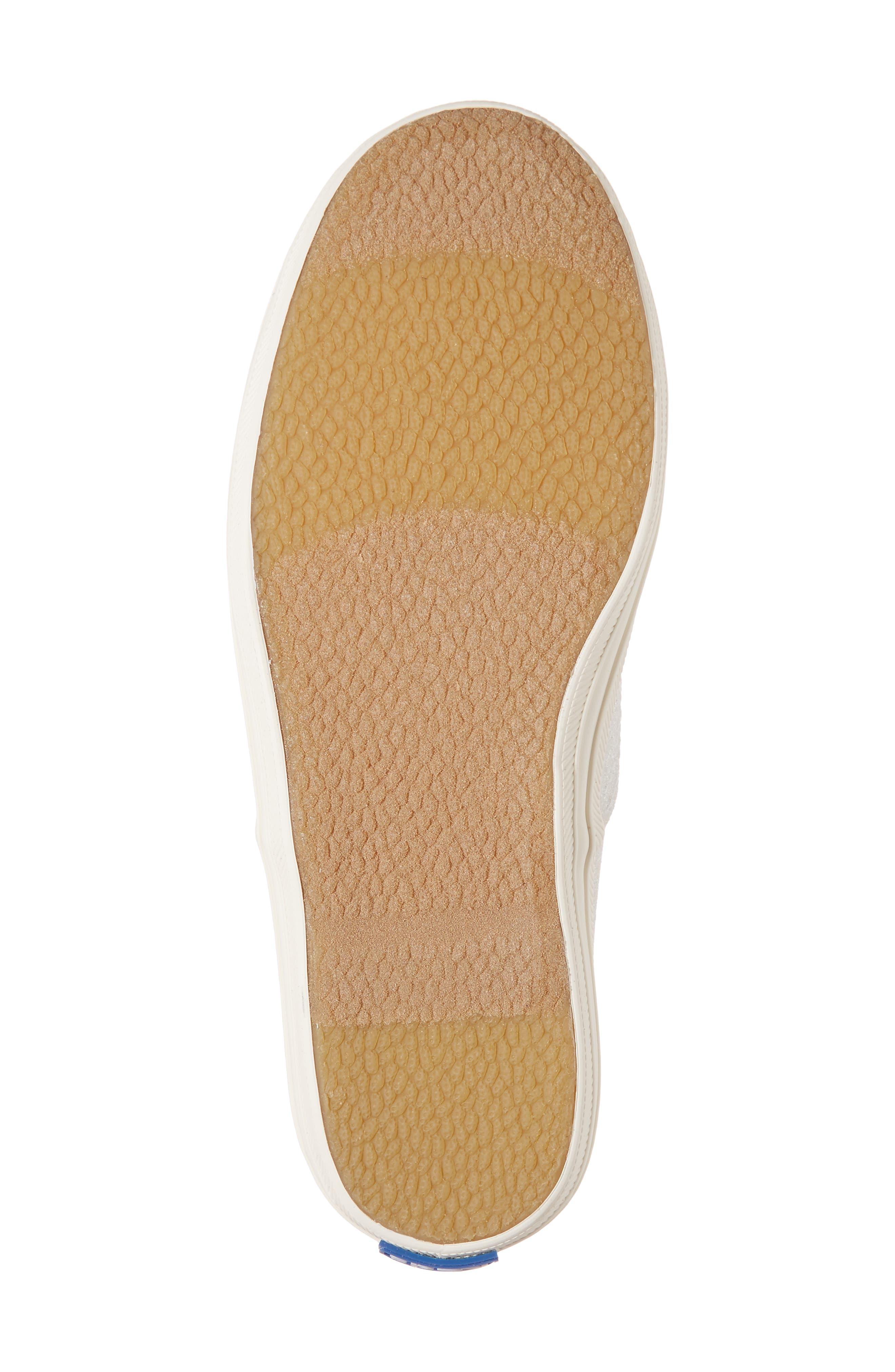 x kate spade new york Champion Glitter Sneaker,                             Alternate thumbnail 6, color,                             CREAM
