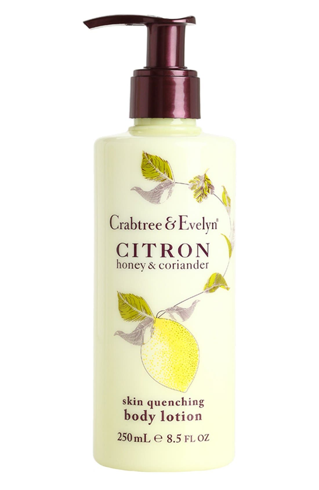 'Citron, Honey & Coriander' Skin Quenching Body Lotion,                             Main thumbnail 1, color,                             000