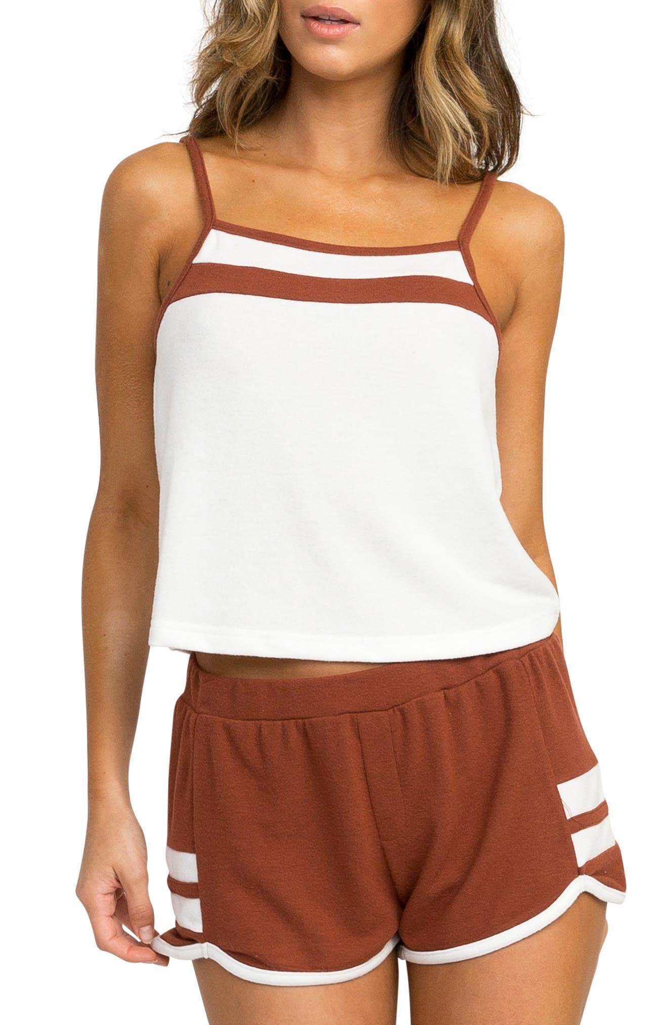 Cured Tank Top,                         Main,                         color, VINTAGE WHITE
