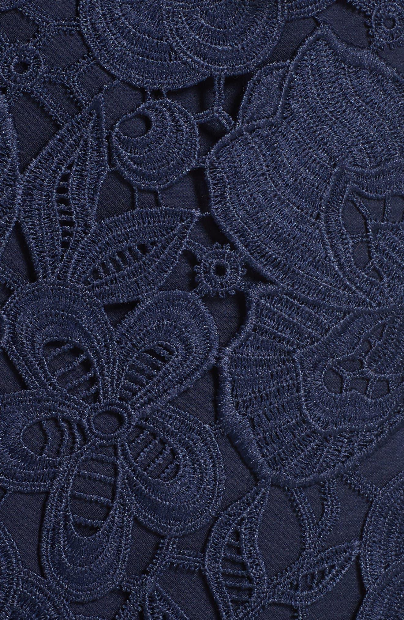 Lace Peplum Dress,                             Alternate thumbnail 5, color,                             410