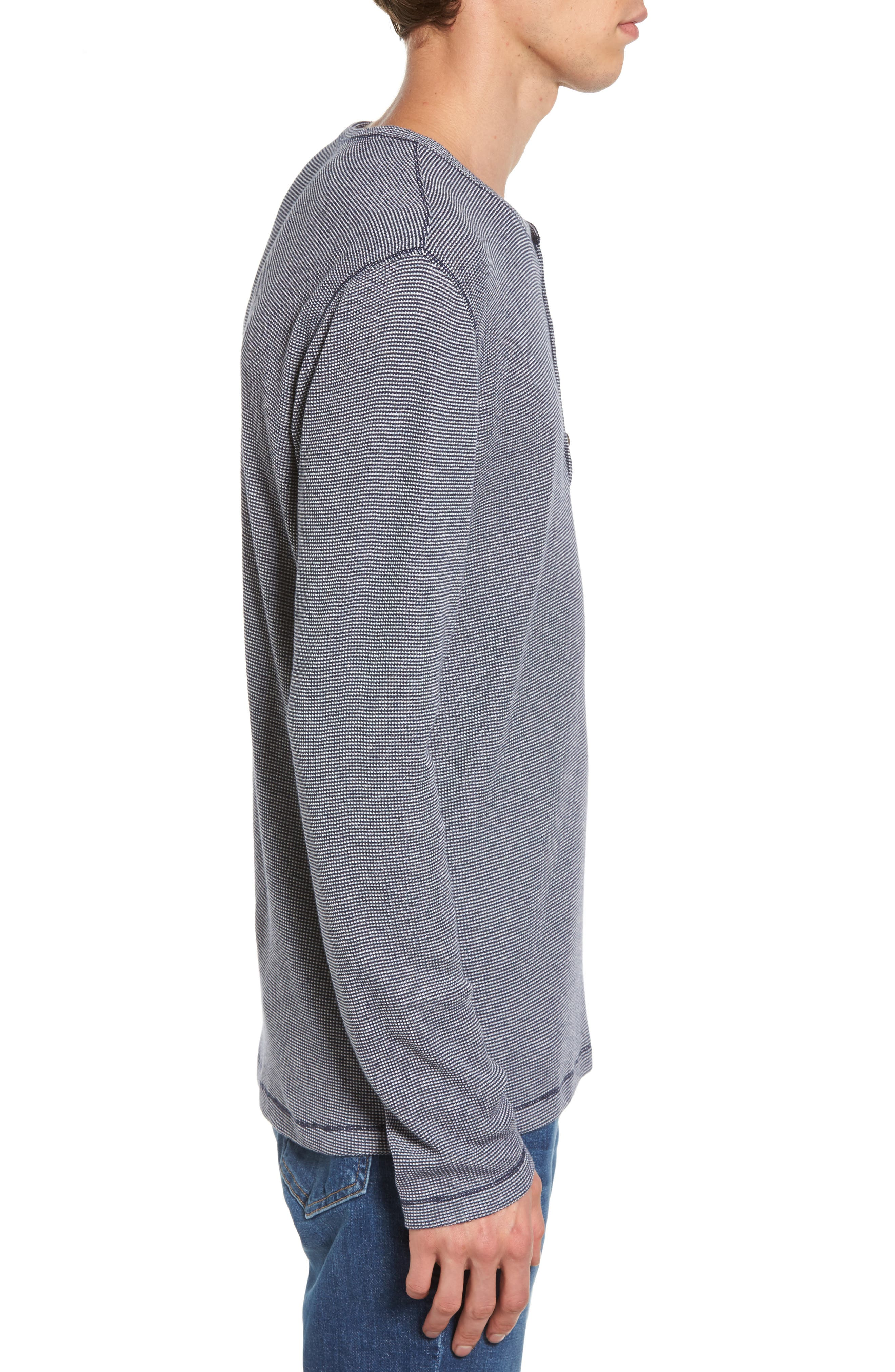 Waffle Knit Henley,                             Alternate thumbnail 5, color,