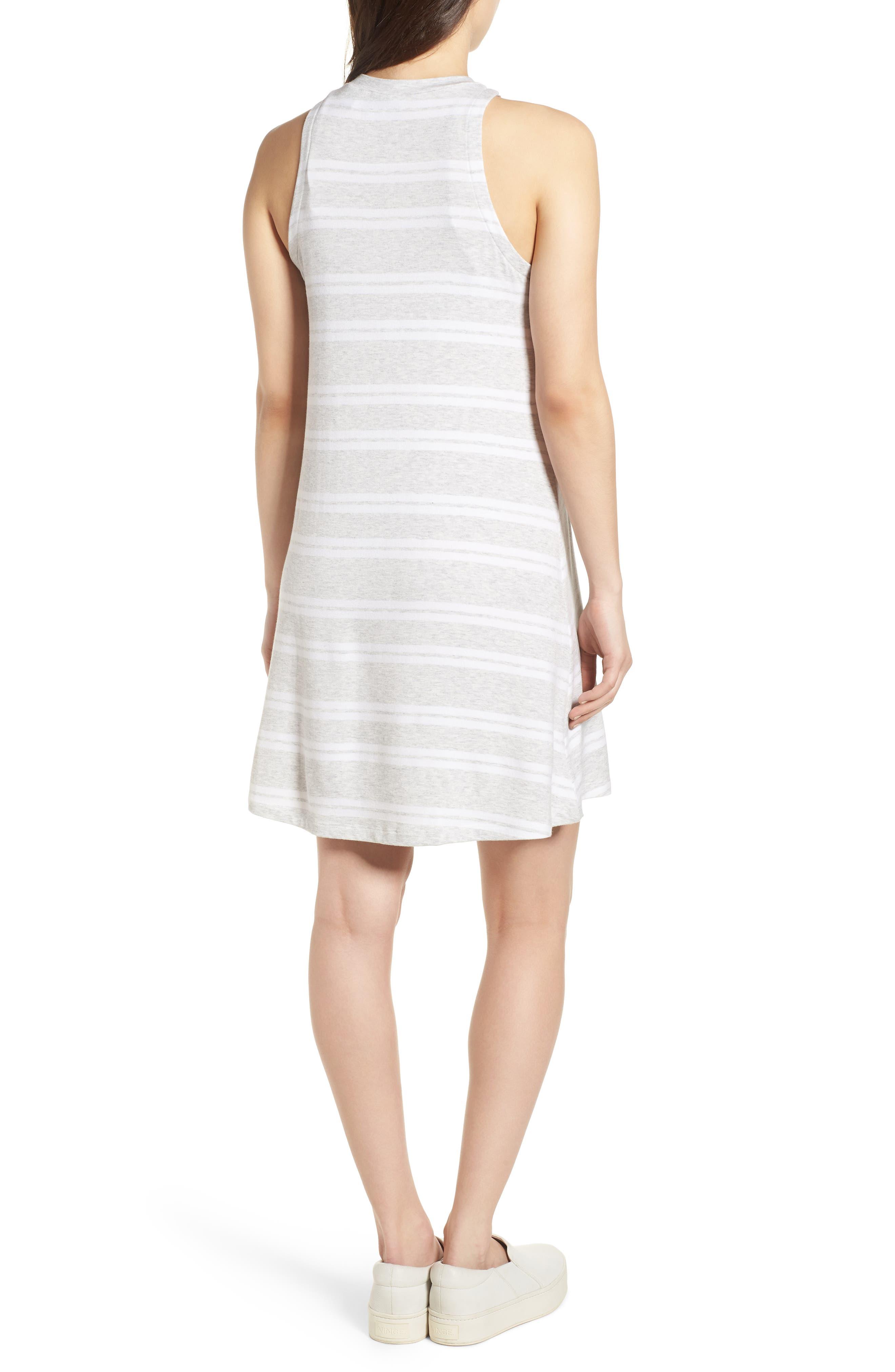Sleeveless Stretch Knit Stripe Dress,                             Alternate thumbnail 4, color,
